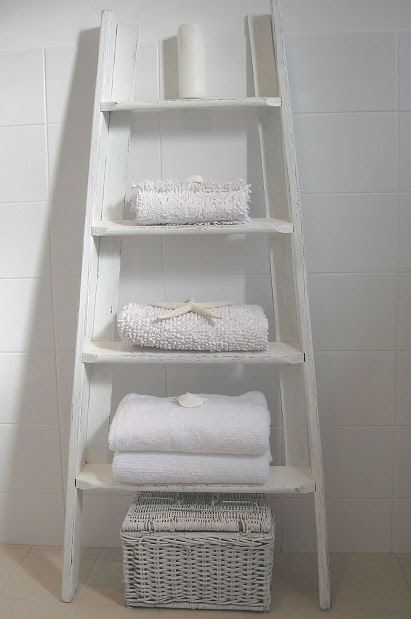 Step Ladder Towel Rack Home Pinterest