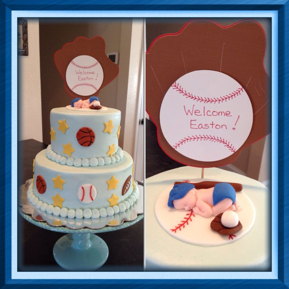 sports theme baby shower cake dream cakes by melissa pinterest