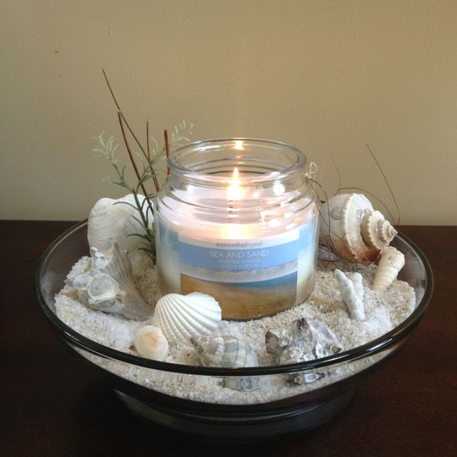 Sand shells centerpiece beach life pinterest