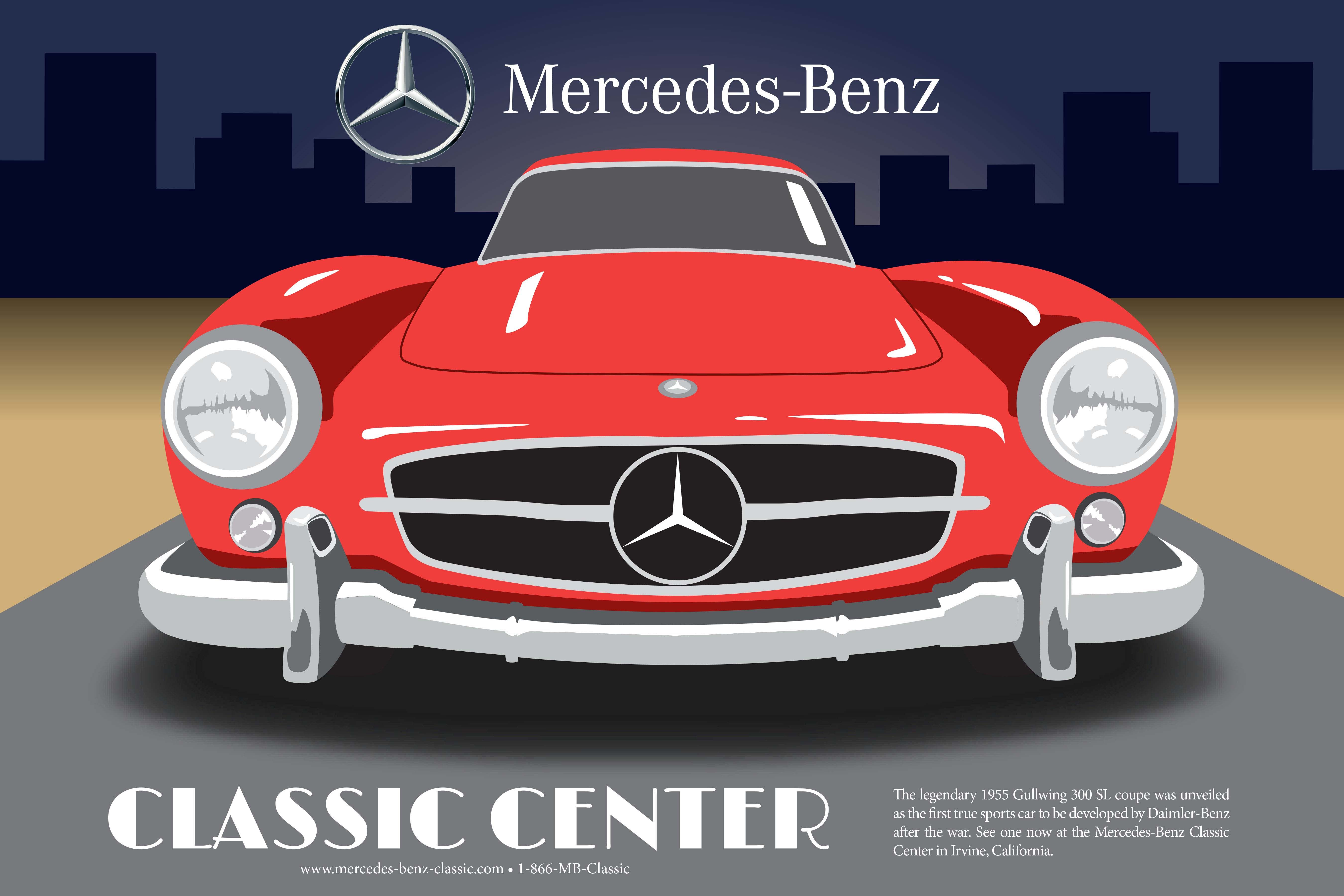 Pin by mercedes benz classic center on vintage mercedes for Mercedes benz poster