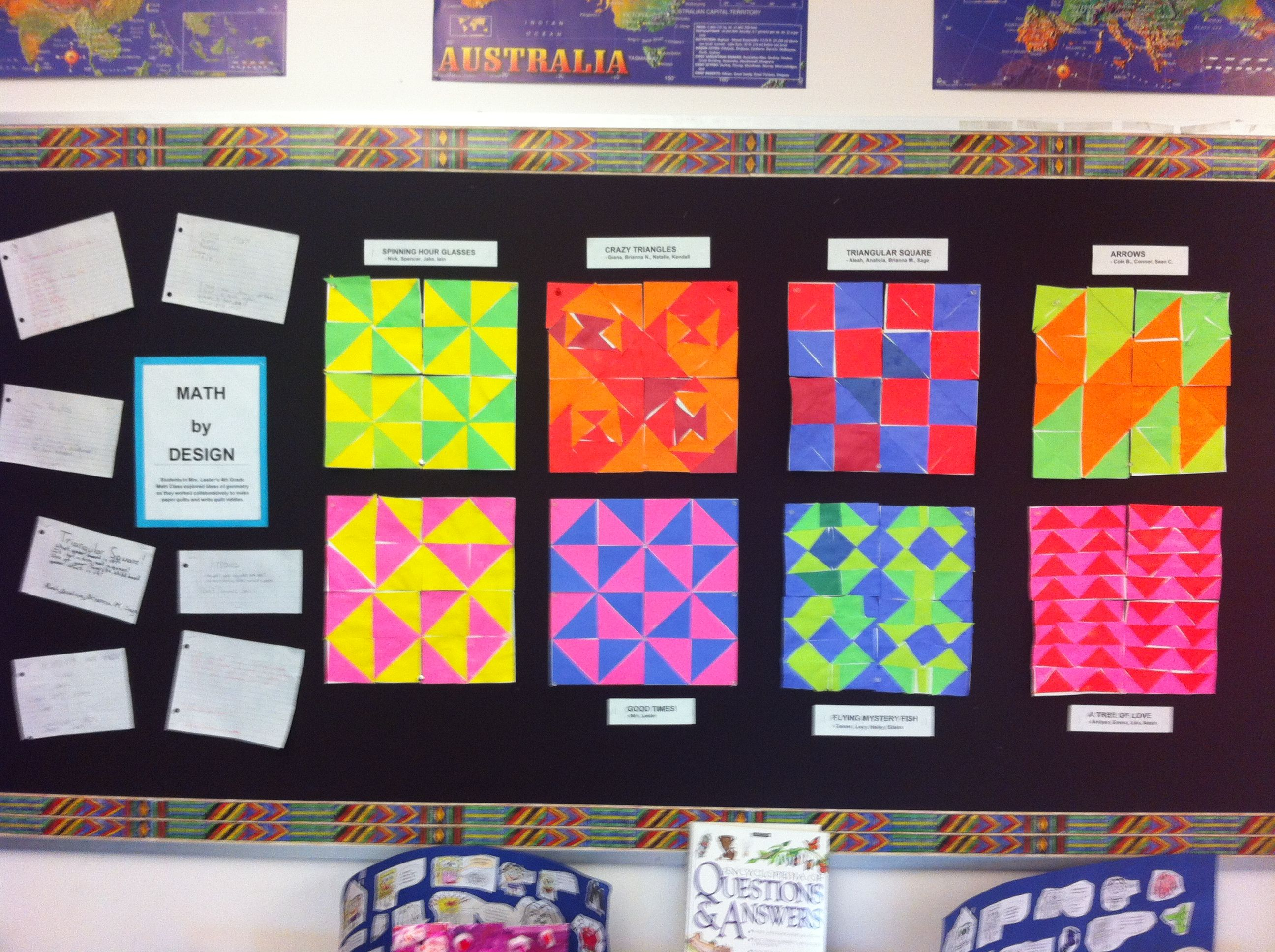 Classroom Decoration Ideas For Grade 2 : Th grade geometry unit math by design pinterest