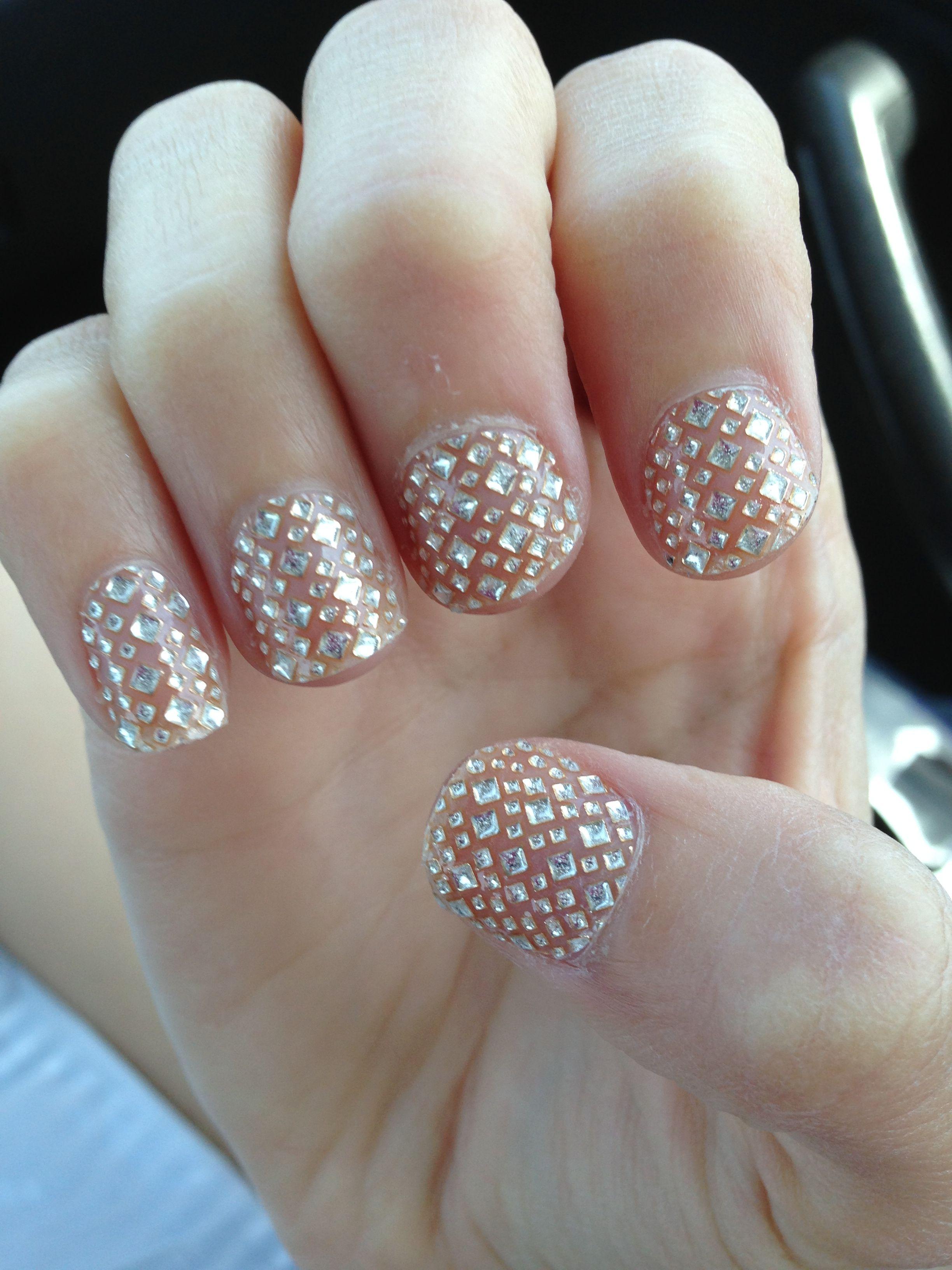 Gem nail art! | nails | Pinterest