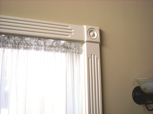 Fluted Trim Boards ~ Fluted window casings with medallions wood trim and