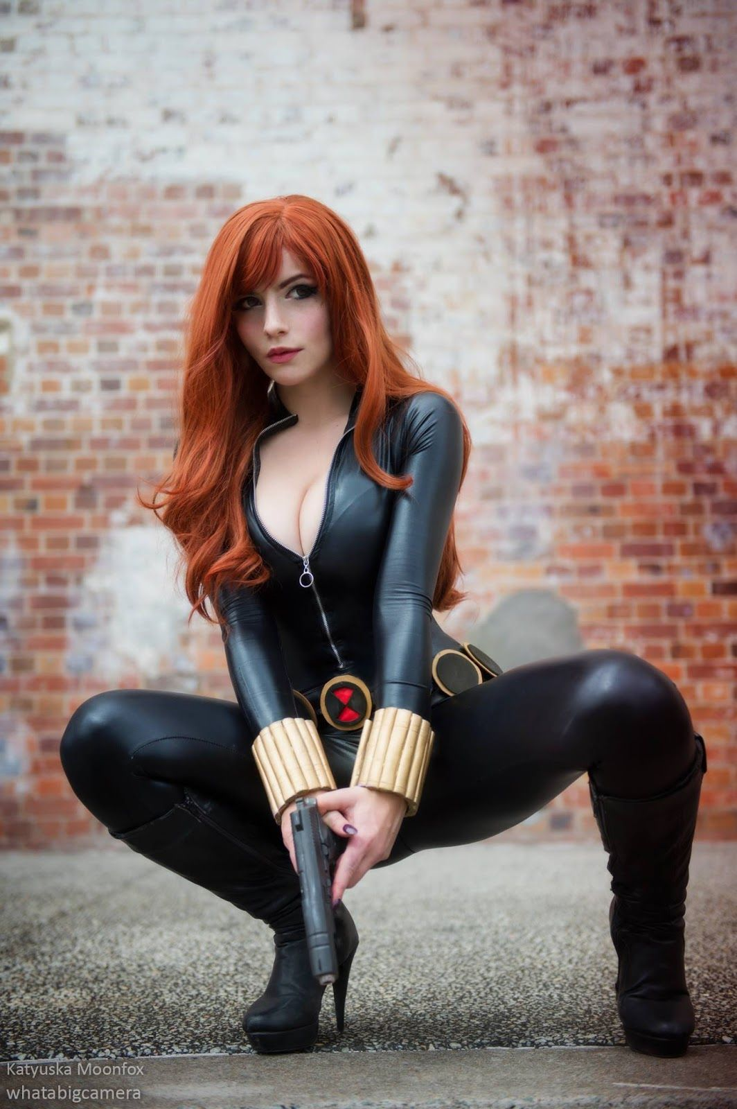 Black widow hot naked cosplay porn pics
