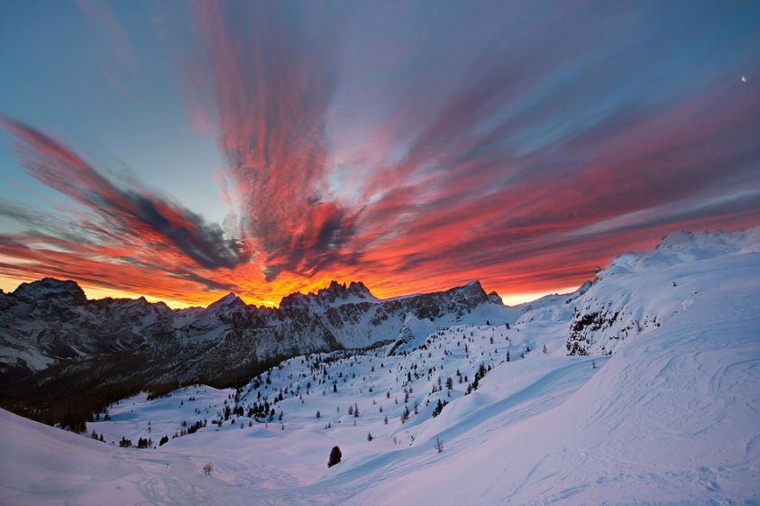 Dolomite Mountains Sumptuous Sunrises Sunsets Pinterest