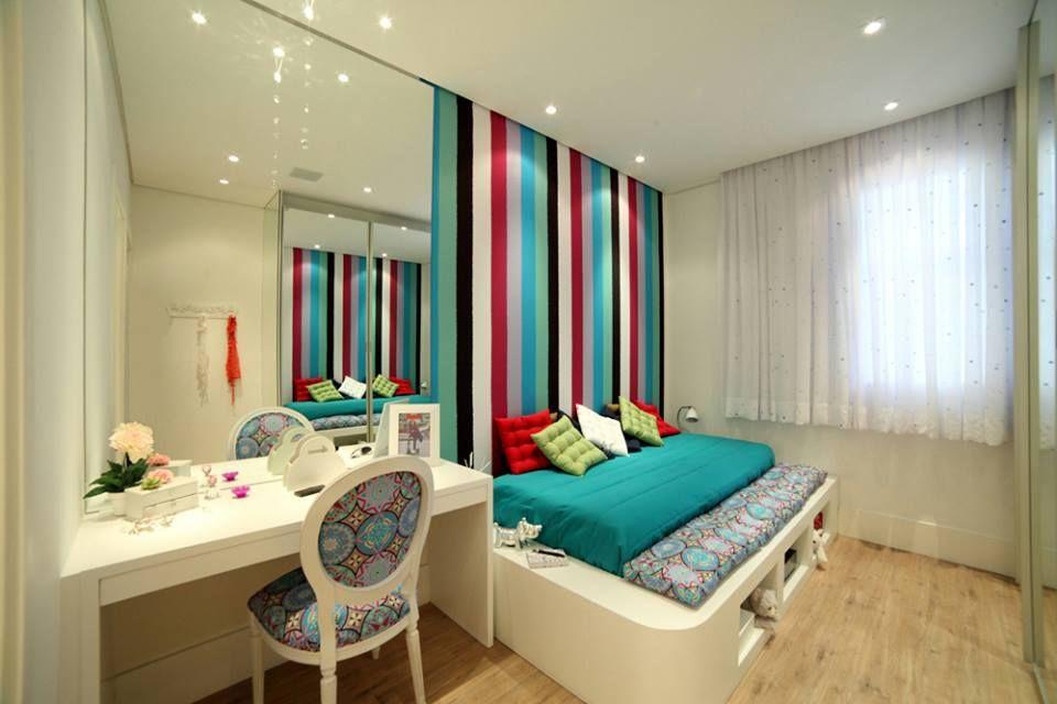 Quarto pequeno quarto feminino Pinterest ~ Quarto Pequeno Jovem