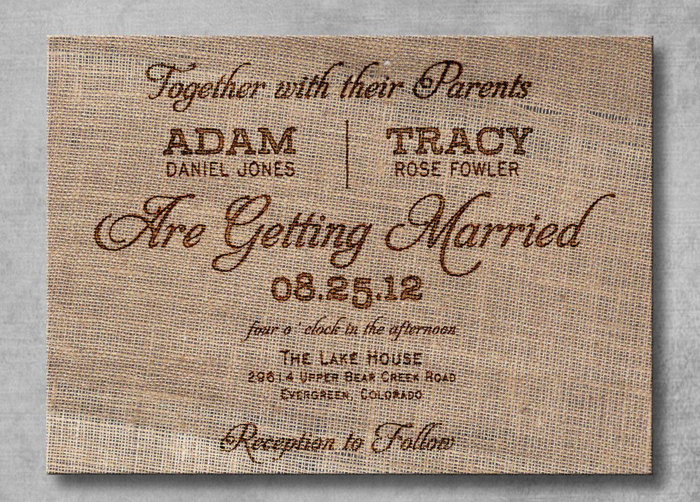 Rustic Backyard Wedding Invitations : brown rustic wedding invitations  Rustic Backyard wedding ideas  Pi
