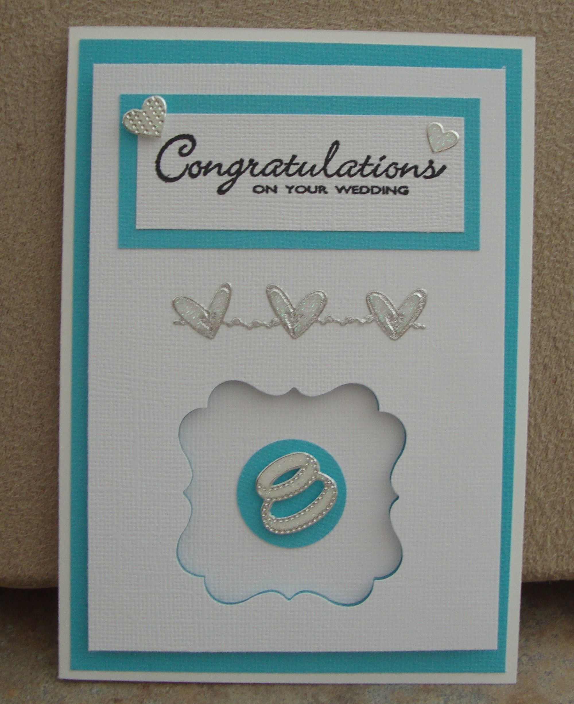Wedding card | Homemade cards by Janie Cox | Pinterest