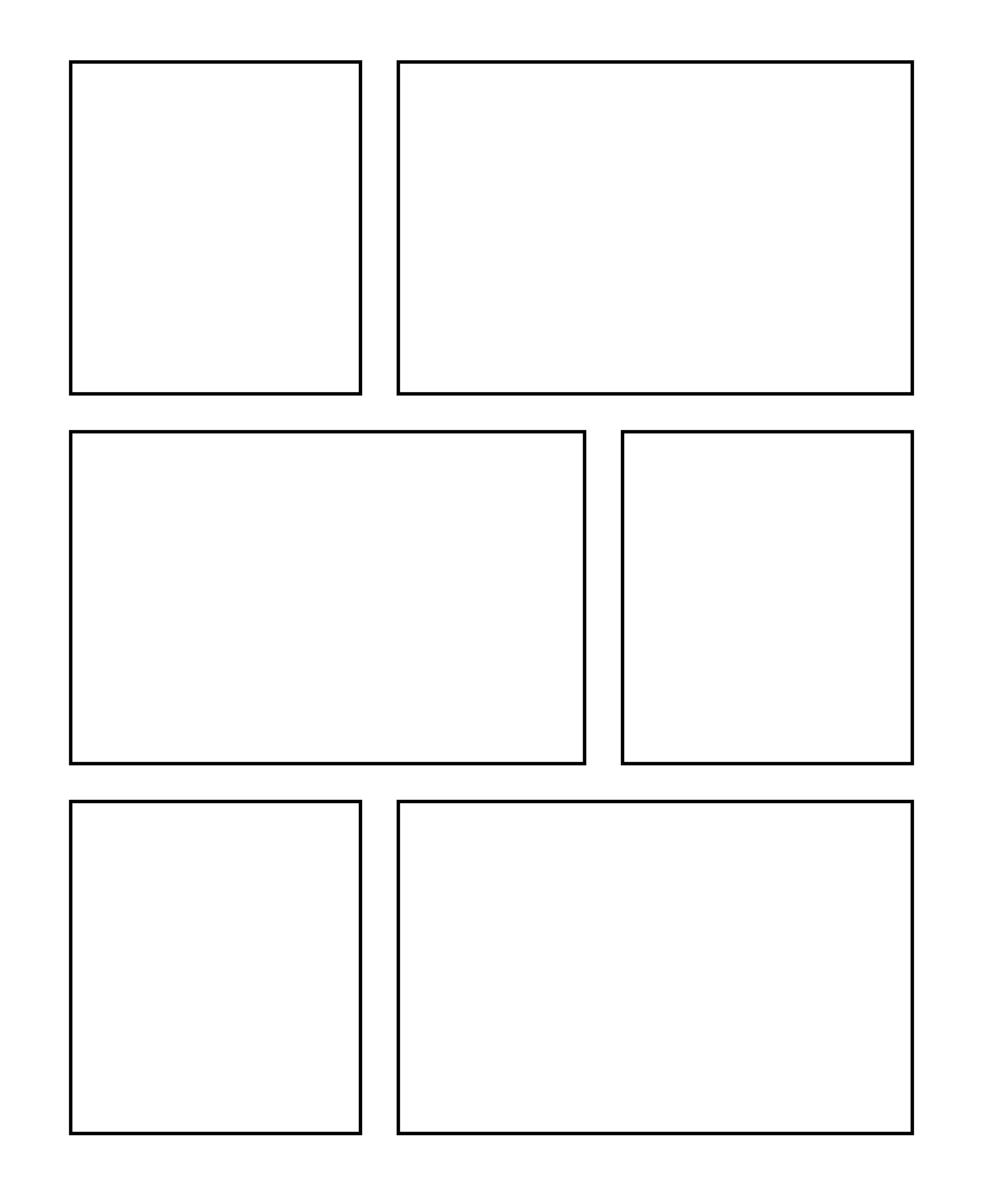 Comic strip template 8 panels mrs ormans classroom: offering choices