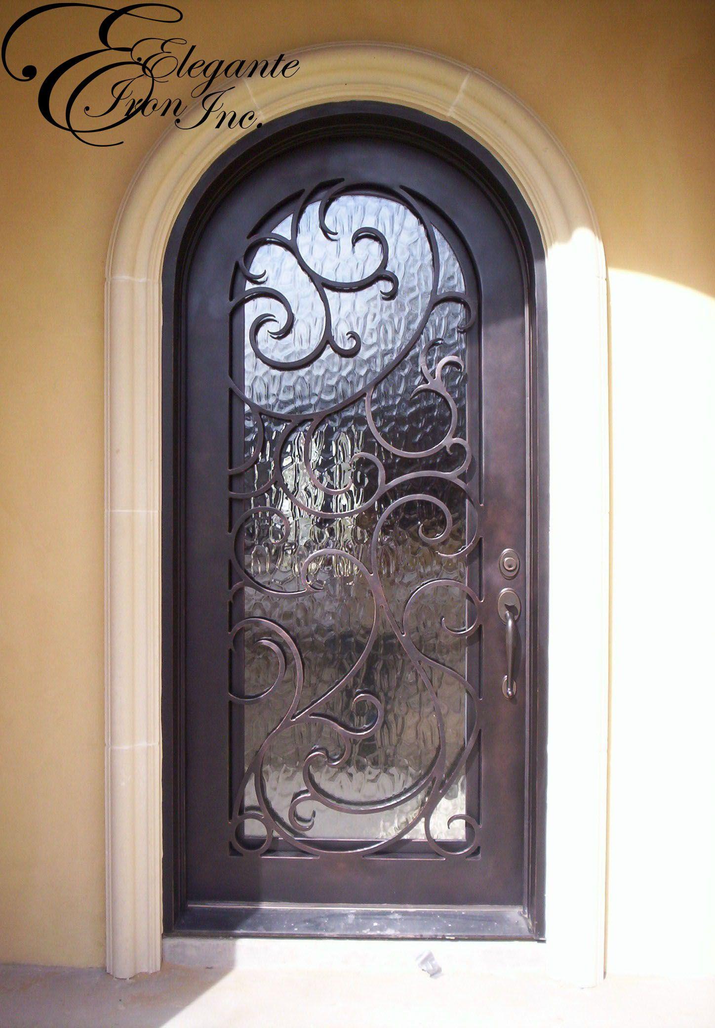 2080 #8E673D Custom Wrought Iron Front Door. Single Doors Pinterest picture/photo Rod Iron Front Doors 43091448