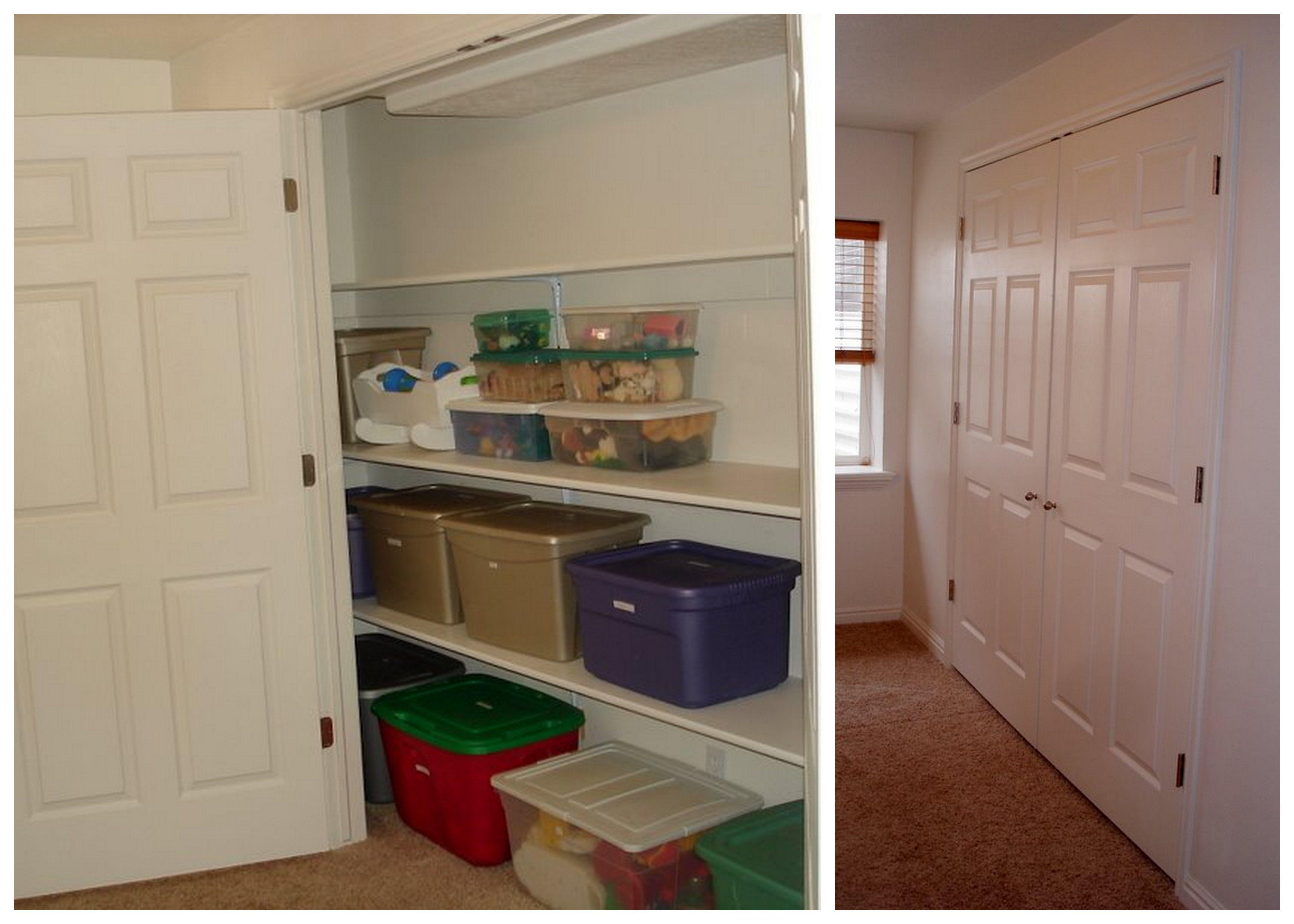 Storage closet storage closet basement for Basement closet ideas