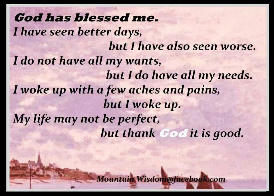 I Am Blessed By God God Has Blessed Me Quo...