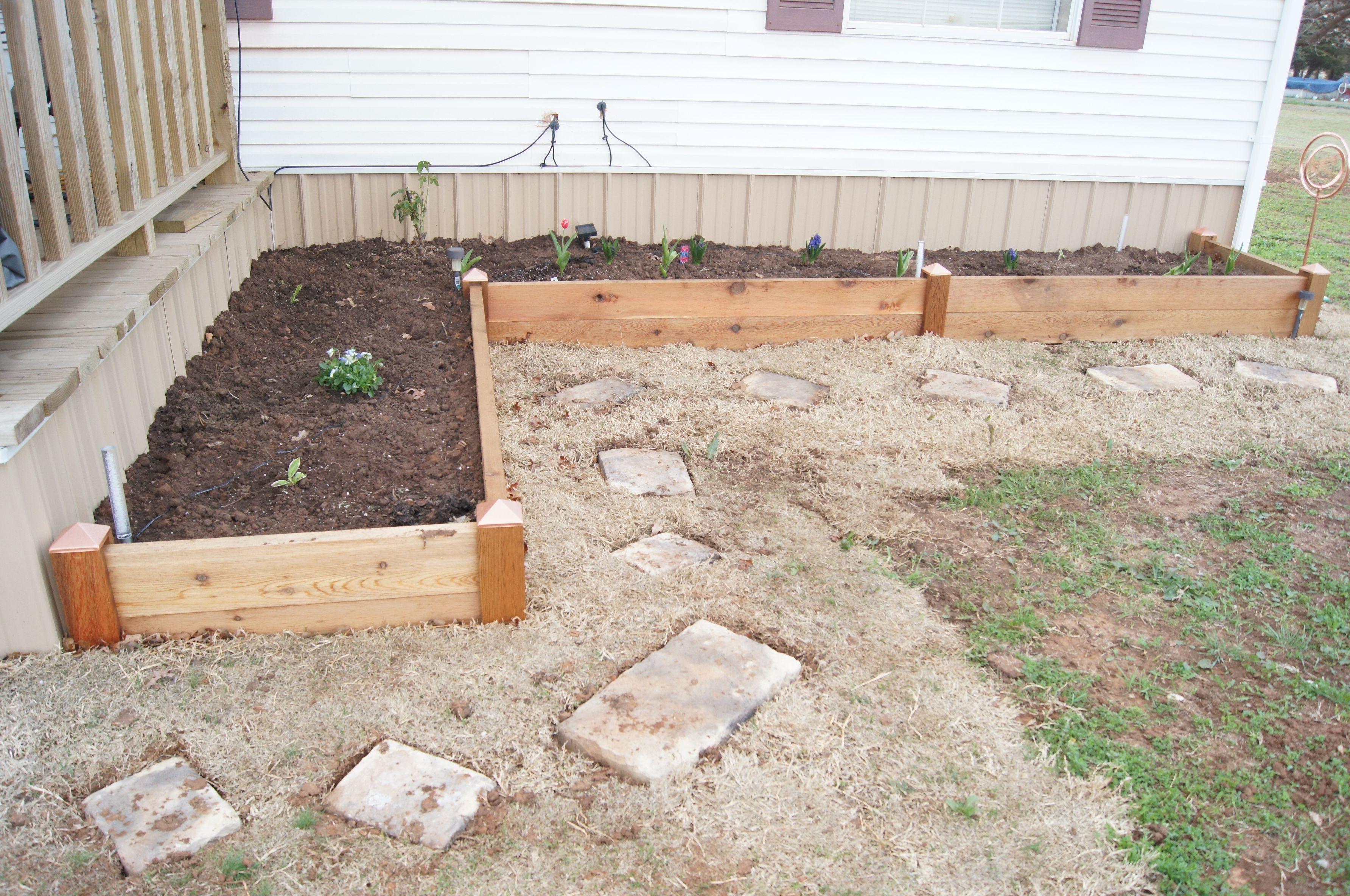 our raised flower bed  Yard Goodies  Pinterest