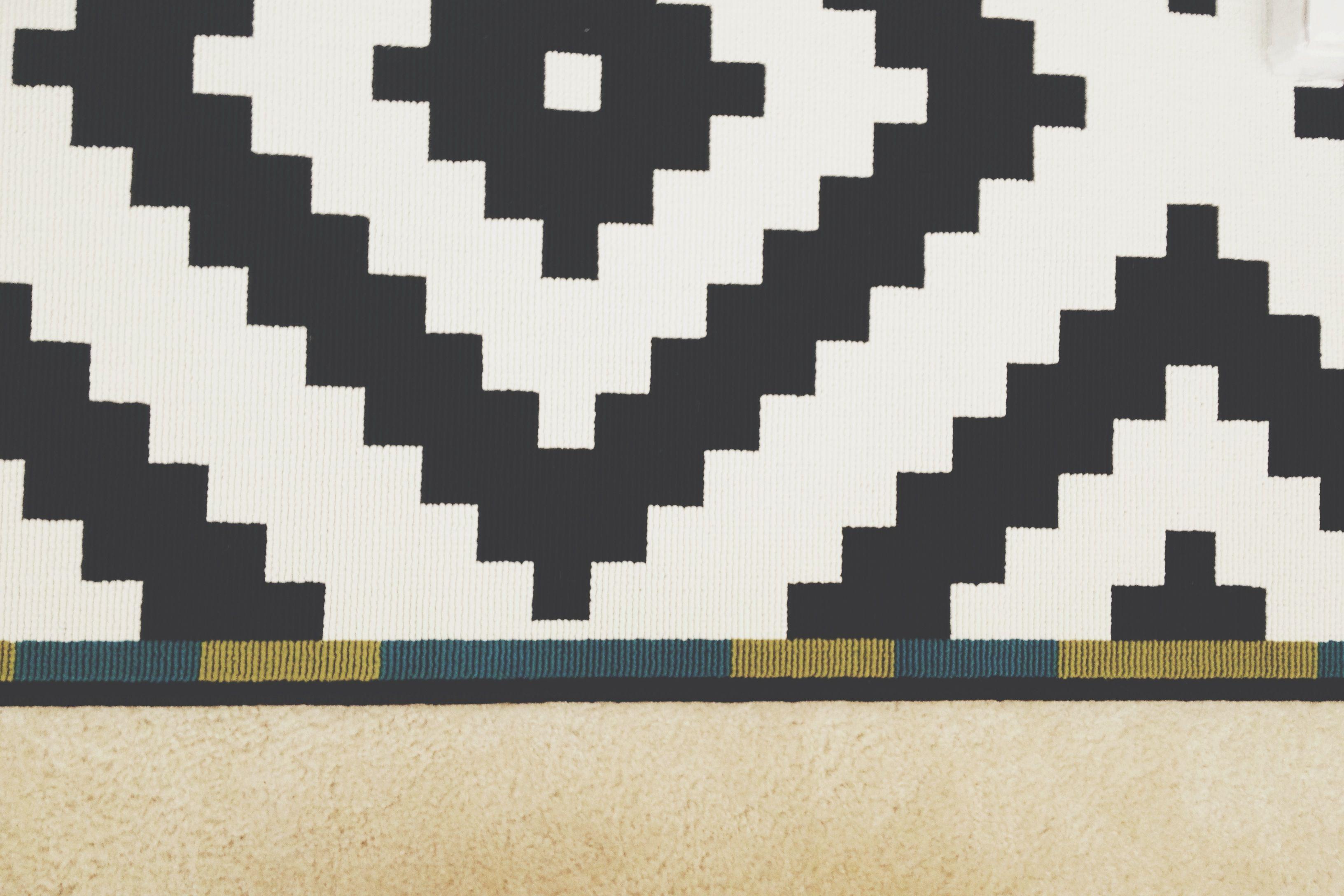 black white tribal rug from ikea homie pinterest