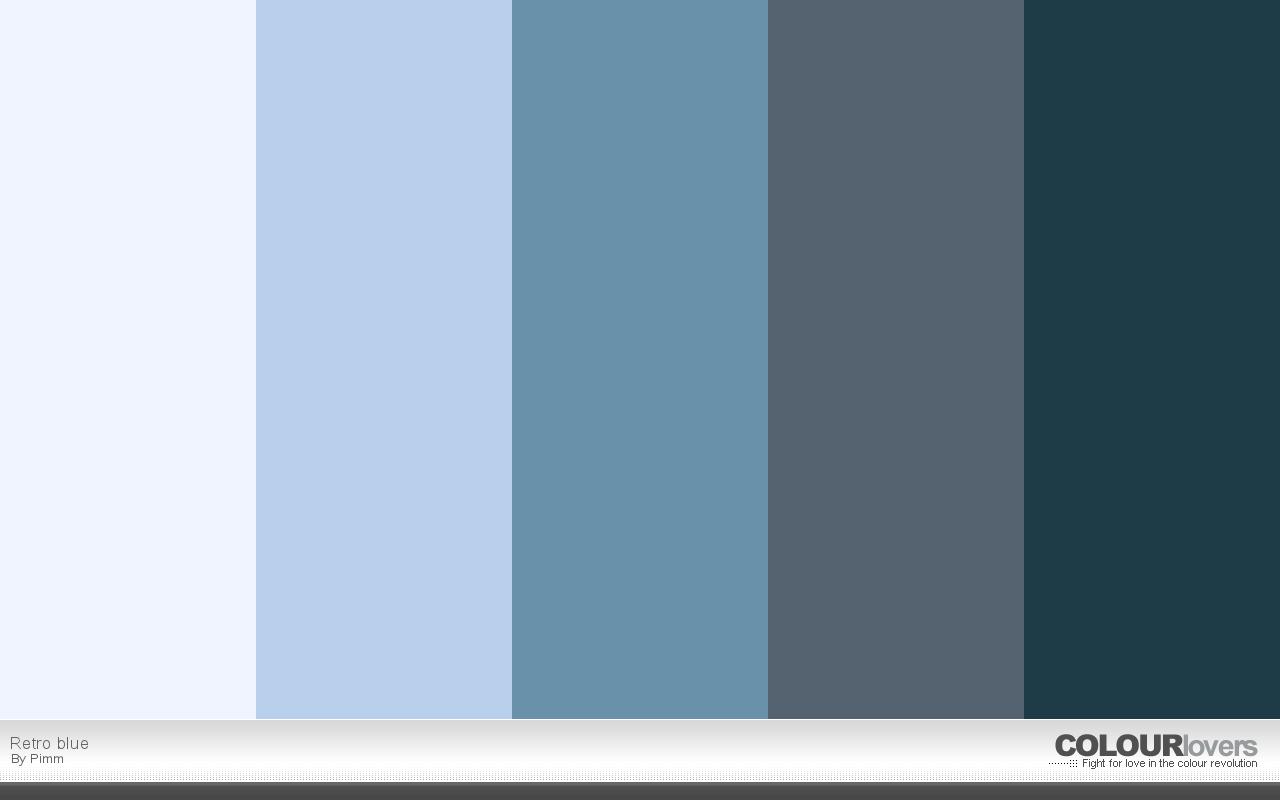 Color Palette Retro Blue Color Palettes Pinterest