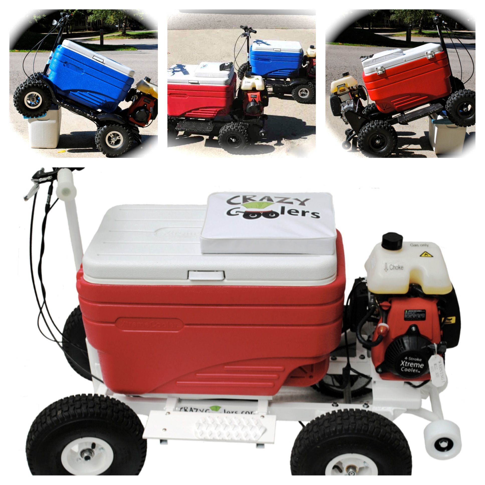 Crazy coolers motorized fun motorized coolers pinterest for Motor cooler on wheels