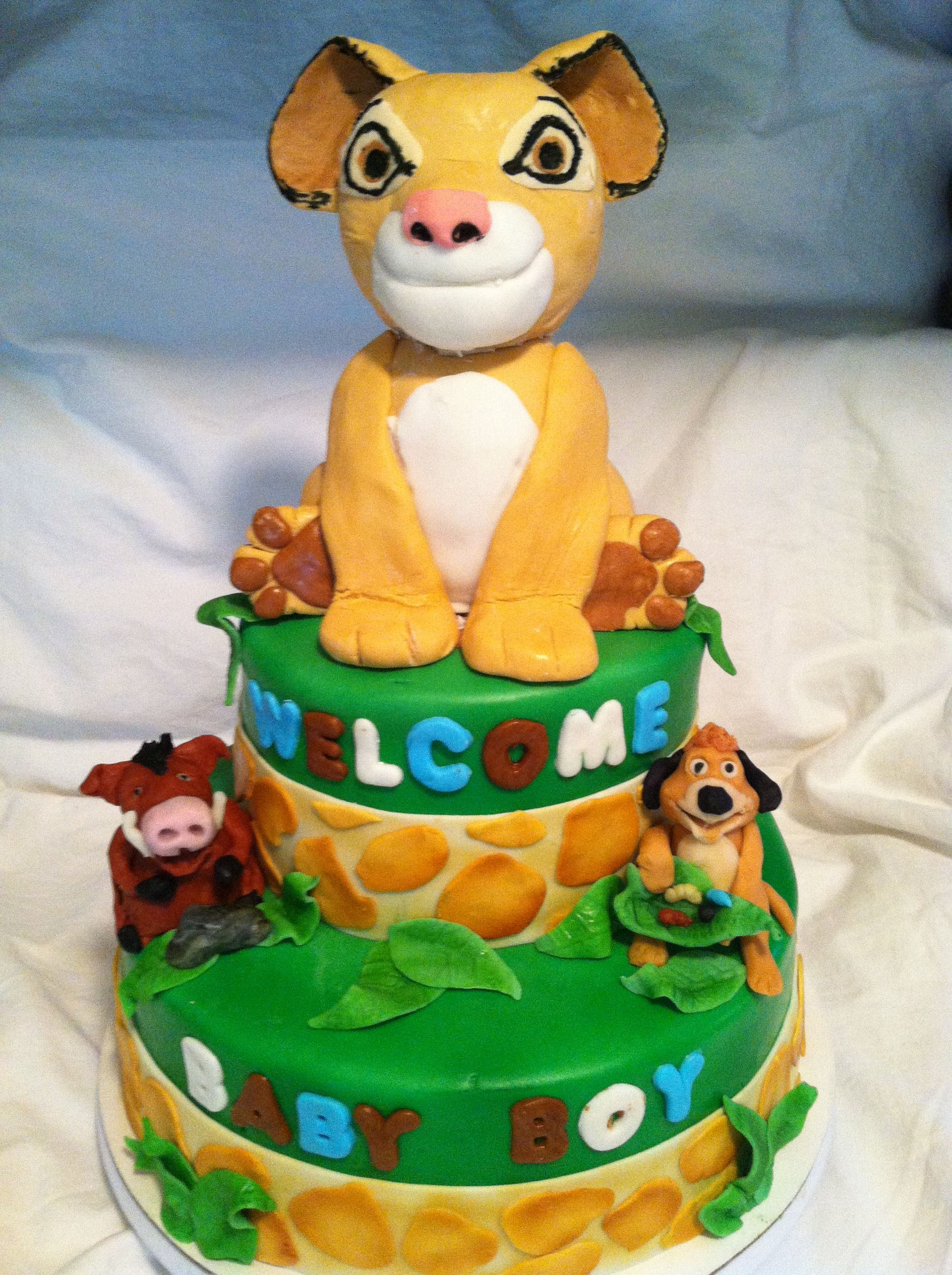 lion king themed baby shower cake my cakes pinterest