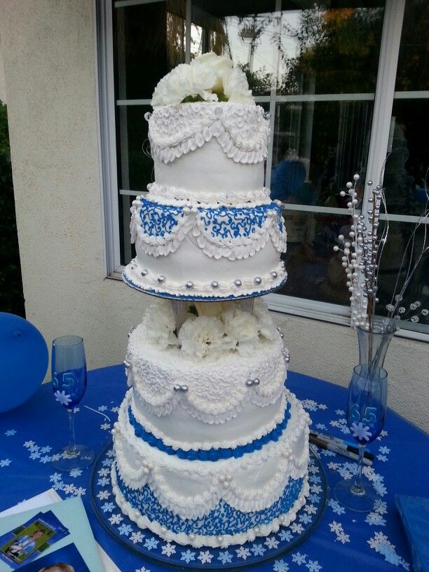 65th wedding anniversary cake wedding anniversary ideas pinterest. Black Bedroom Furniture Sets. Home Design Ideas