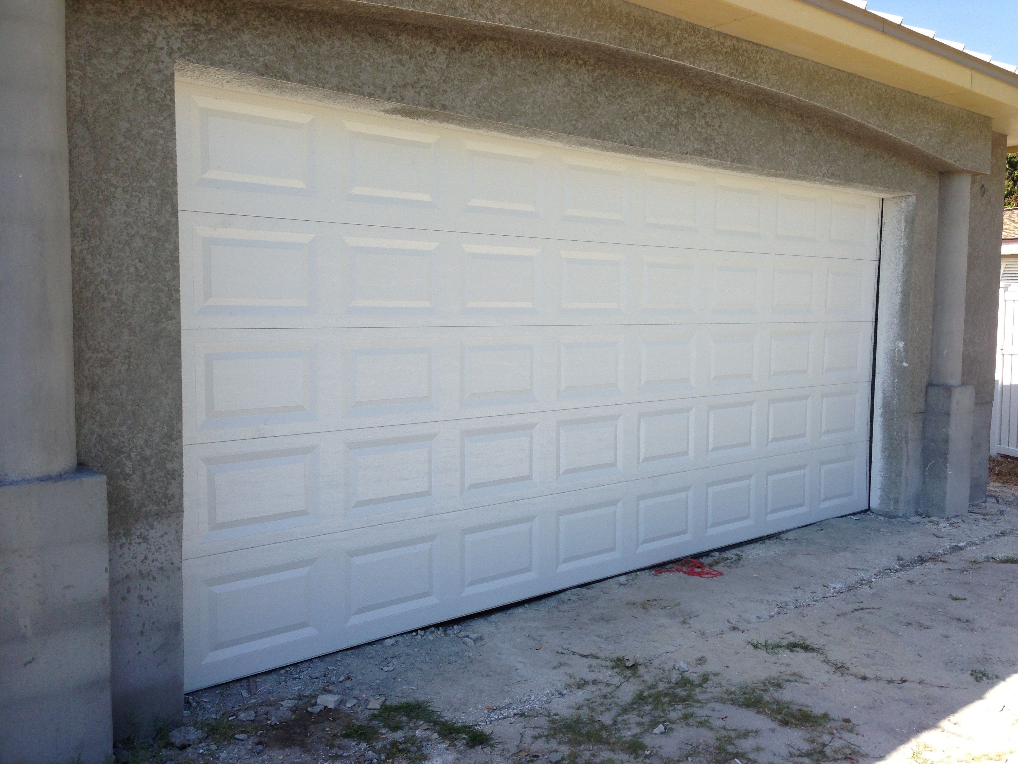 2448 #71644B New White Garage Door Installation. Garage Door Installation Pint  save image Garage Doors Installers 37773264