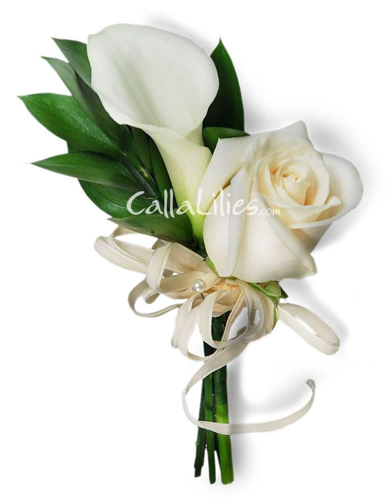 Calla Lily Boutonnieres Wedding Flowers And Boutonnieres Pinterest