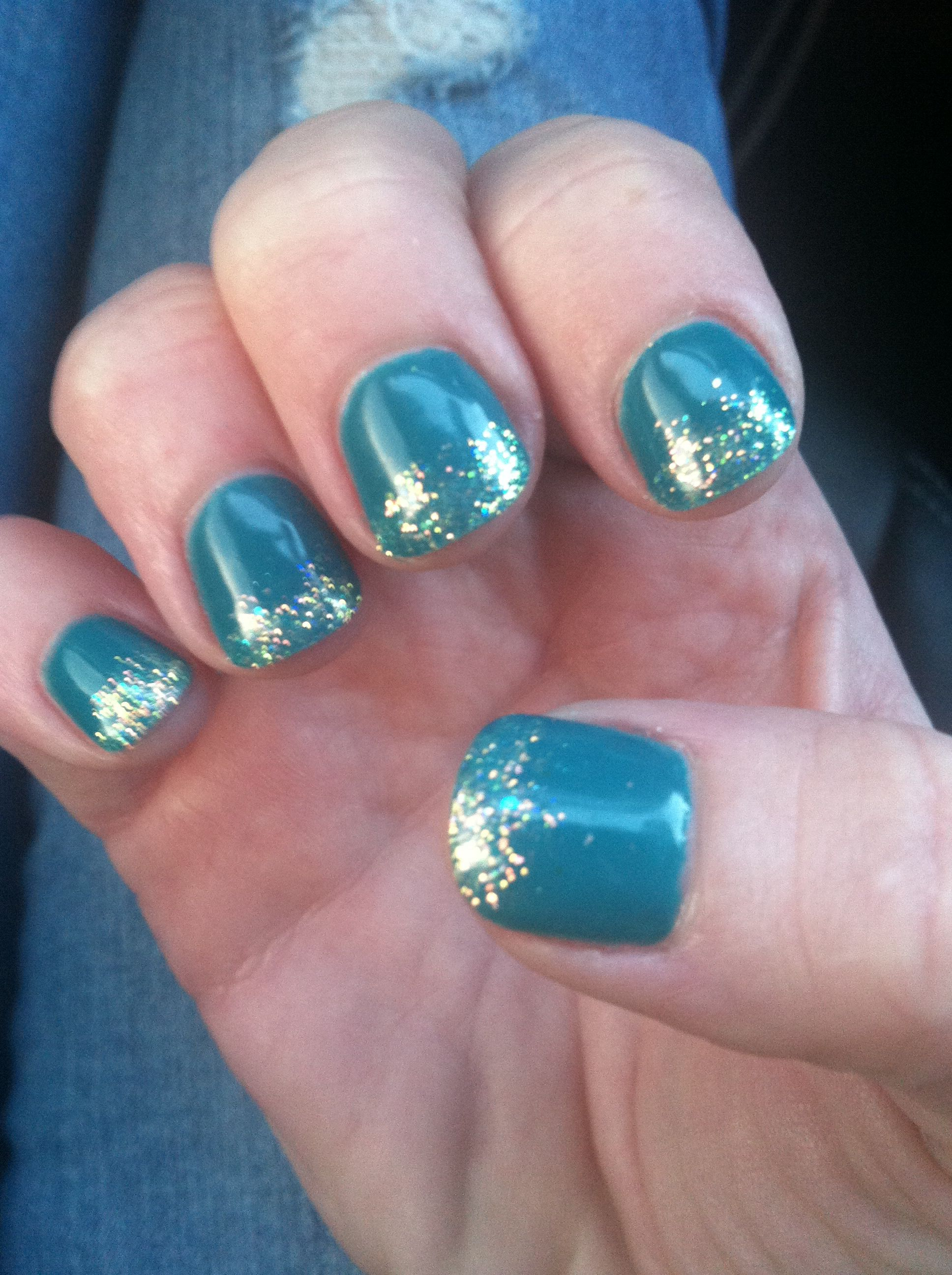 Winter gel nails with shellac polish. | nails | Pinterest