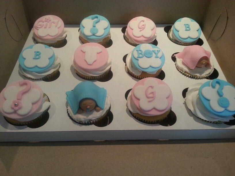 Gender reveal cupcakes baby wilson pinterest