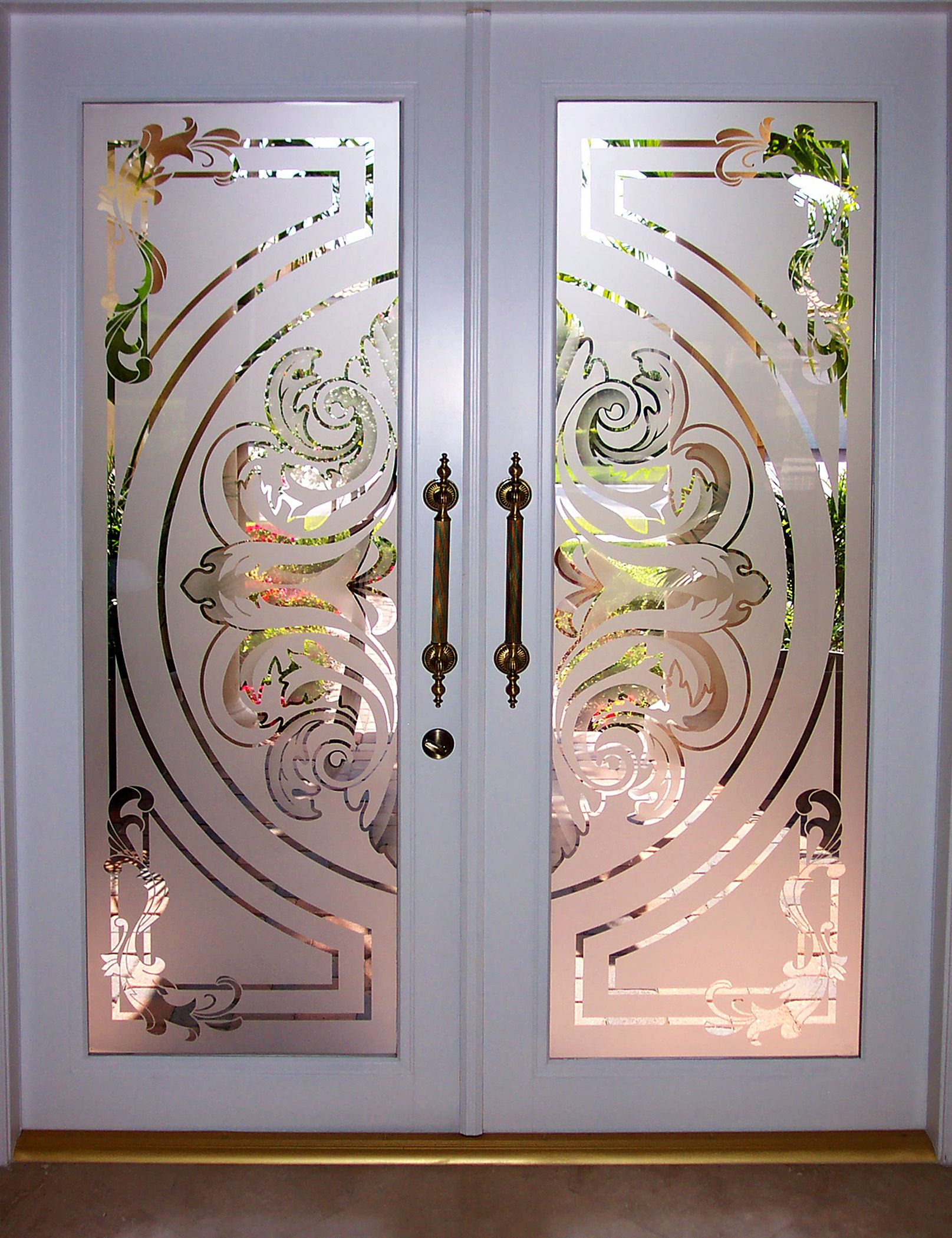2098 #8C603F Love Etched Glass Doors. Doors ༺♥༻ Windows Pinterest wallpaper Etched Glass Front Doors 39351615