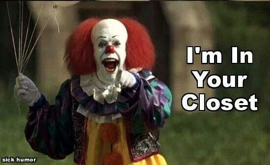 It clown movie time pinterest for Killer clown movie
