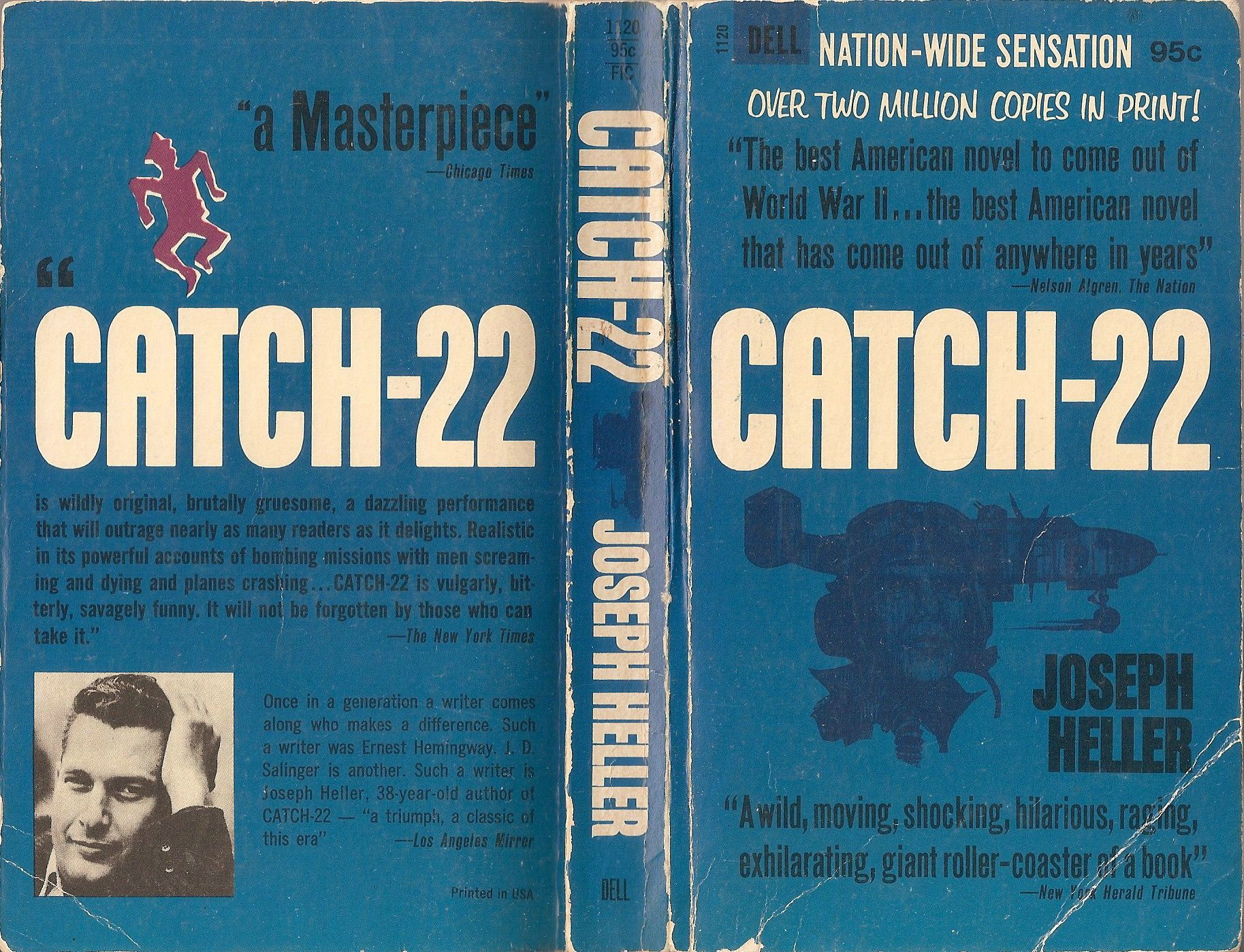 a look at the absurdity of the novel catch 22 by joseph heller Catch-22 by joseph heller is a famous anti-war novel even if you've never read the book, you've likely heard about its premise the title of the book refers to a situation where no matter what choice you make the outcome will be bad.