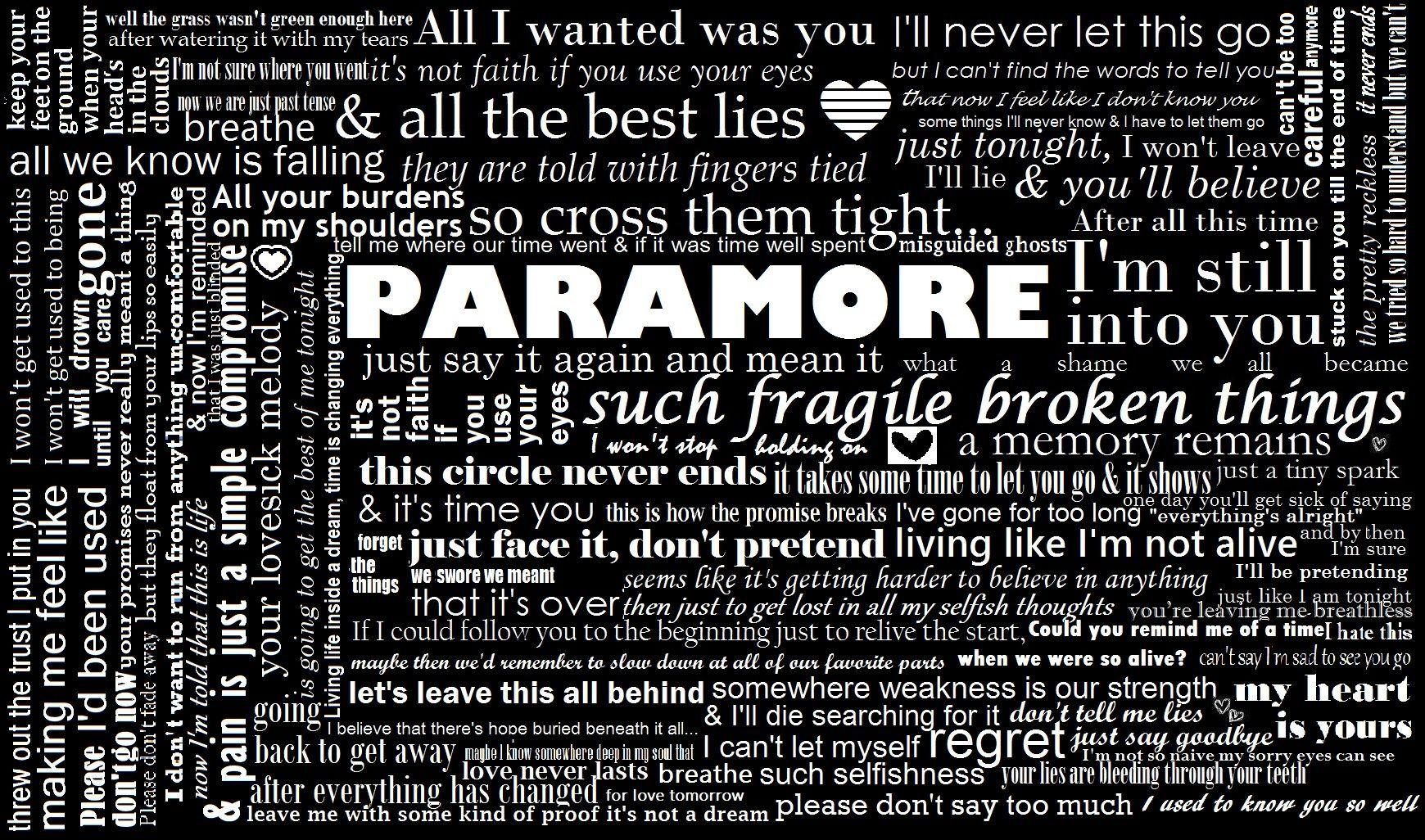 paramore song lyrics - photo #34
