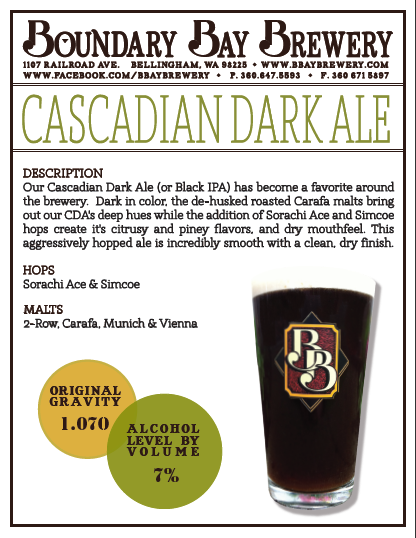 image of Cascadian Dark Ale sourced from Boundary Bay Brewing's Pinterest page
