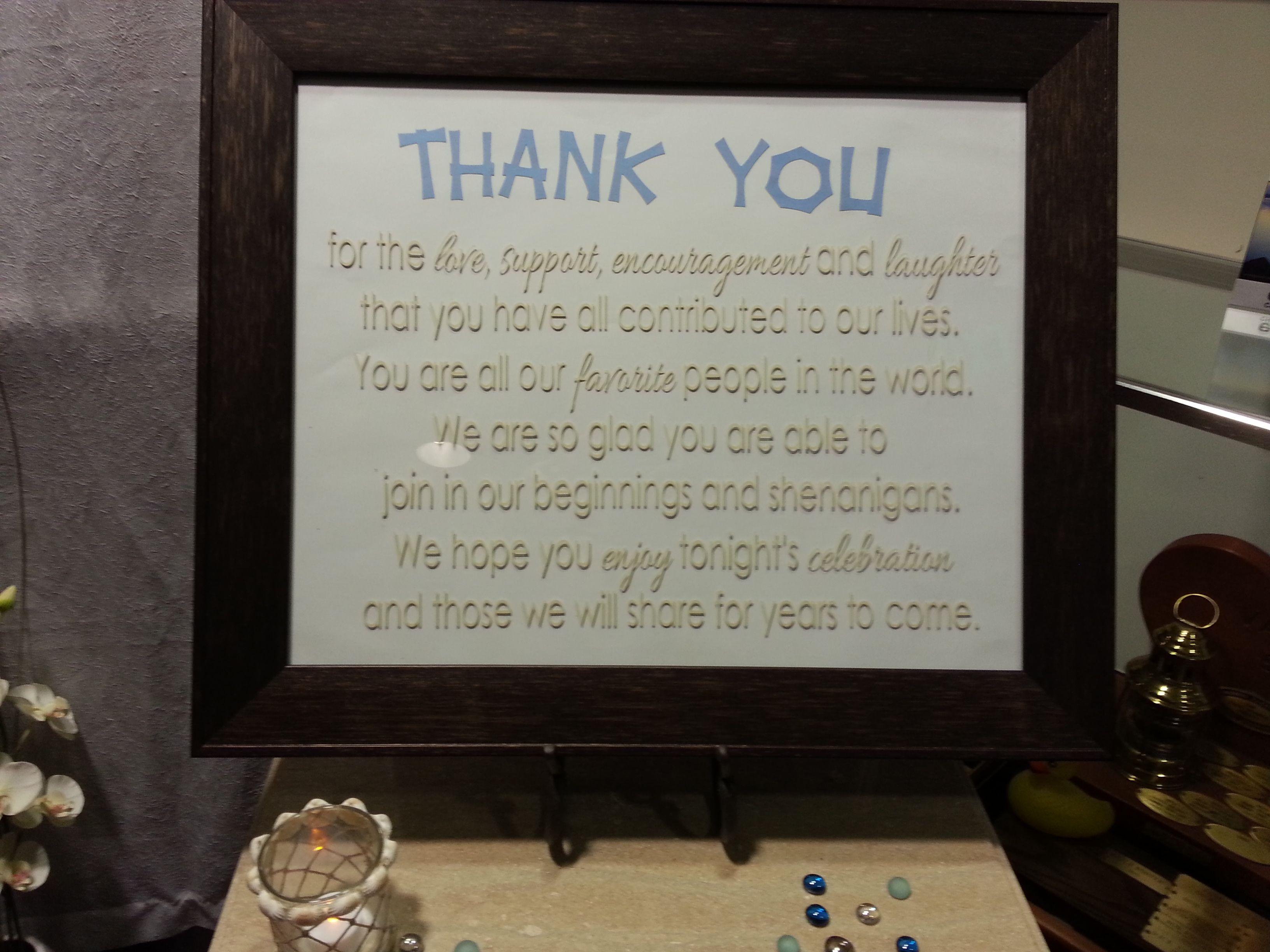 Wedding Present Table Pinterest : Thank You sign on Gift Table Wedding Ideas Pinterest