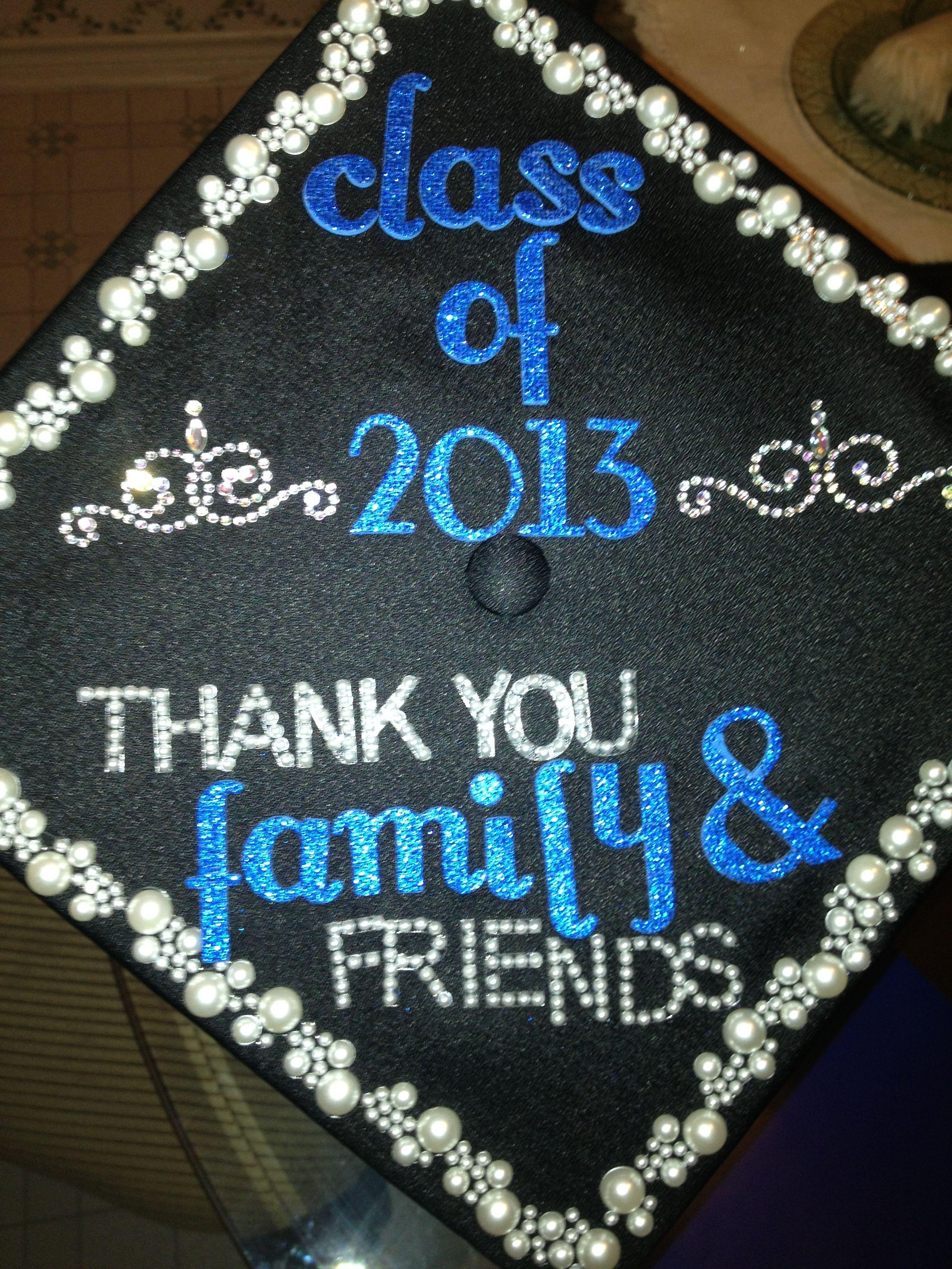 Decorations on graduation cap craft ideas pinterest for Graduation decorations