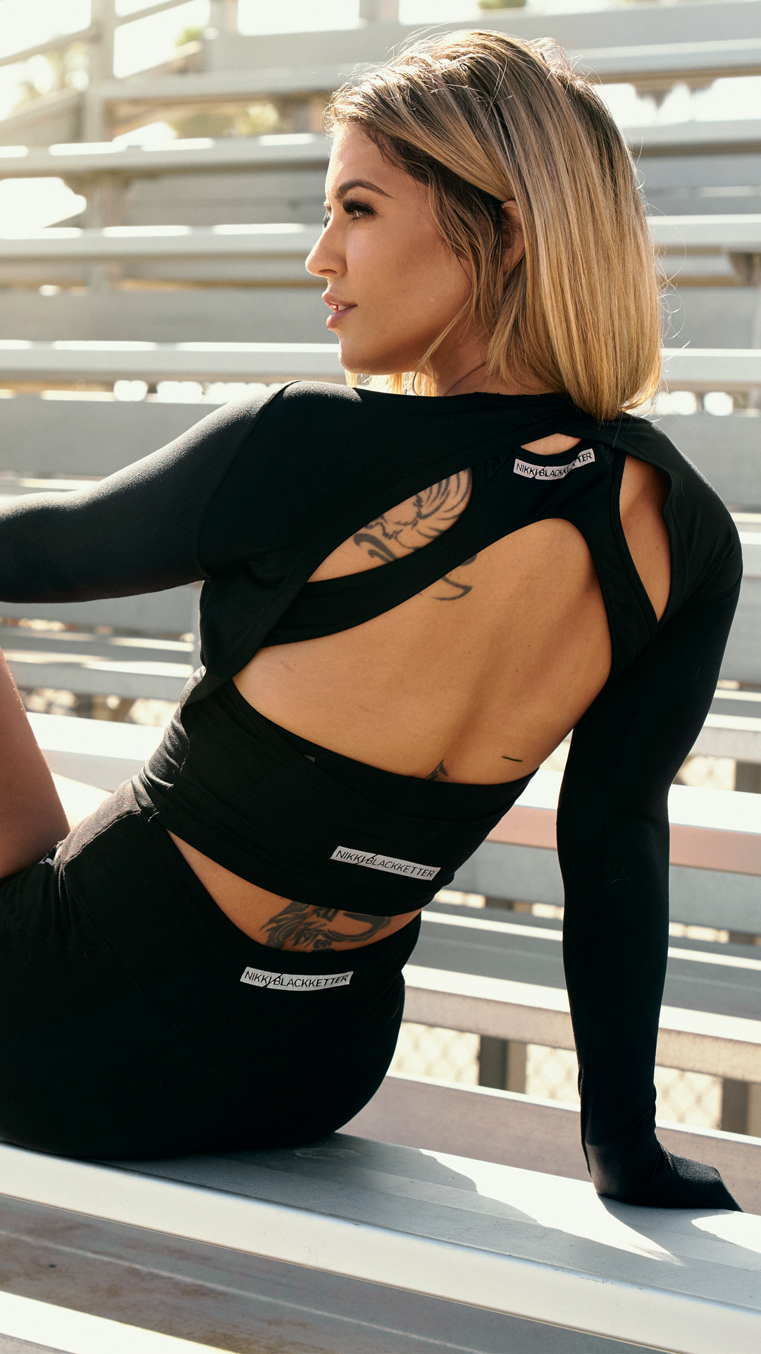 The Cross Back Sports Bra and Boost Shorts are the perfect pair for your next workout. The open back and low cut front of the crop