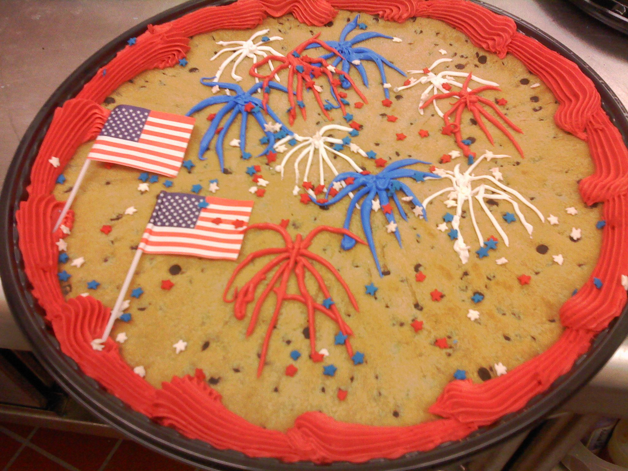 Fireworks Cookie | Fourth OF July | Pinterest