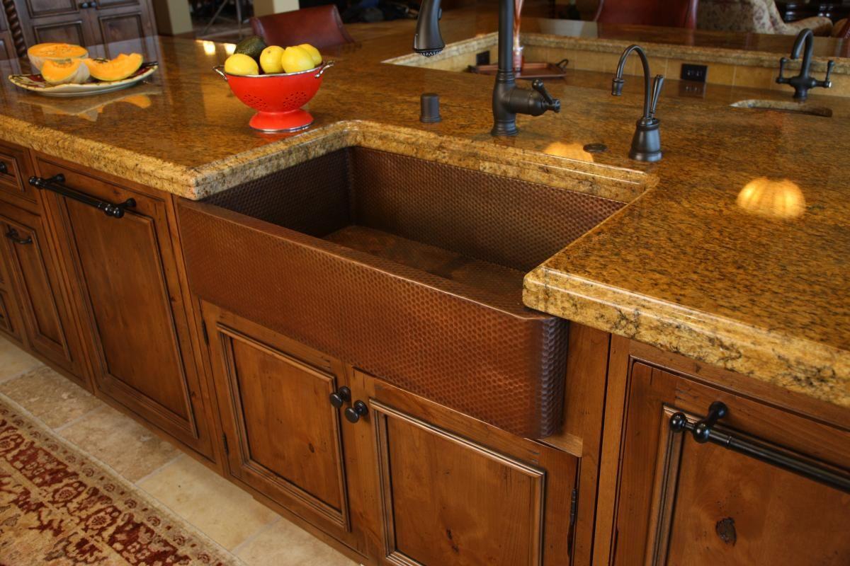 gorgeous copper farmhouse sink  Design Studio  Pinterest