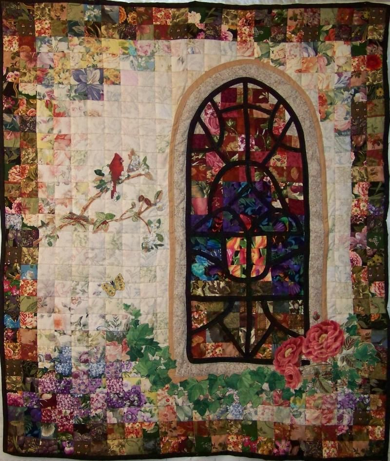 Cathedral window quilt cathedral window quilts pinterest for Window quilt