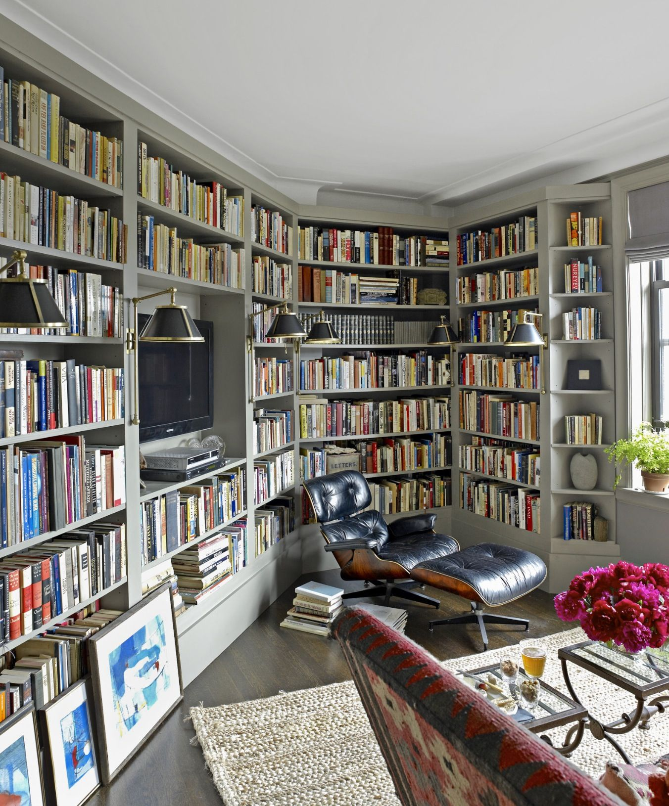 House Beautiful Library Decor Ideas Pinterest Home Library Design Ideas