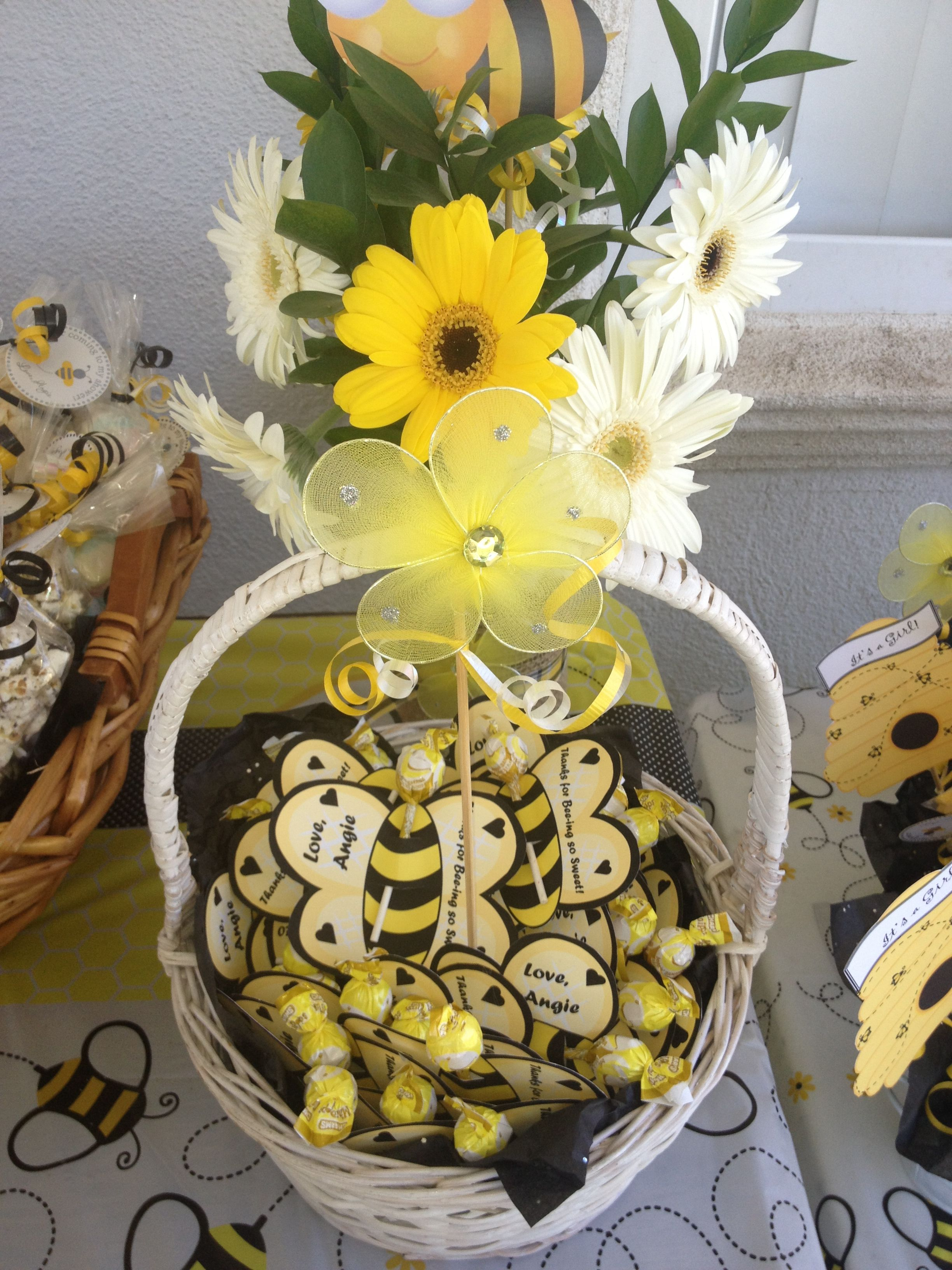 bee theme baby shower party favors sandrukesinc pinterest