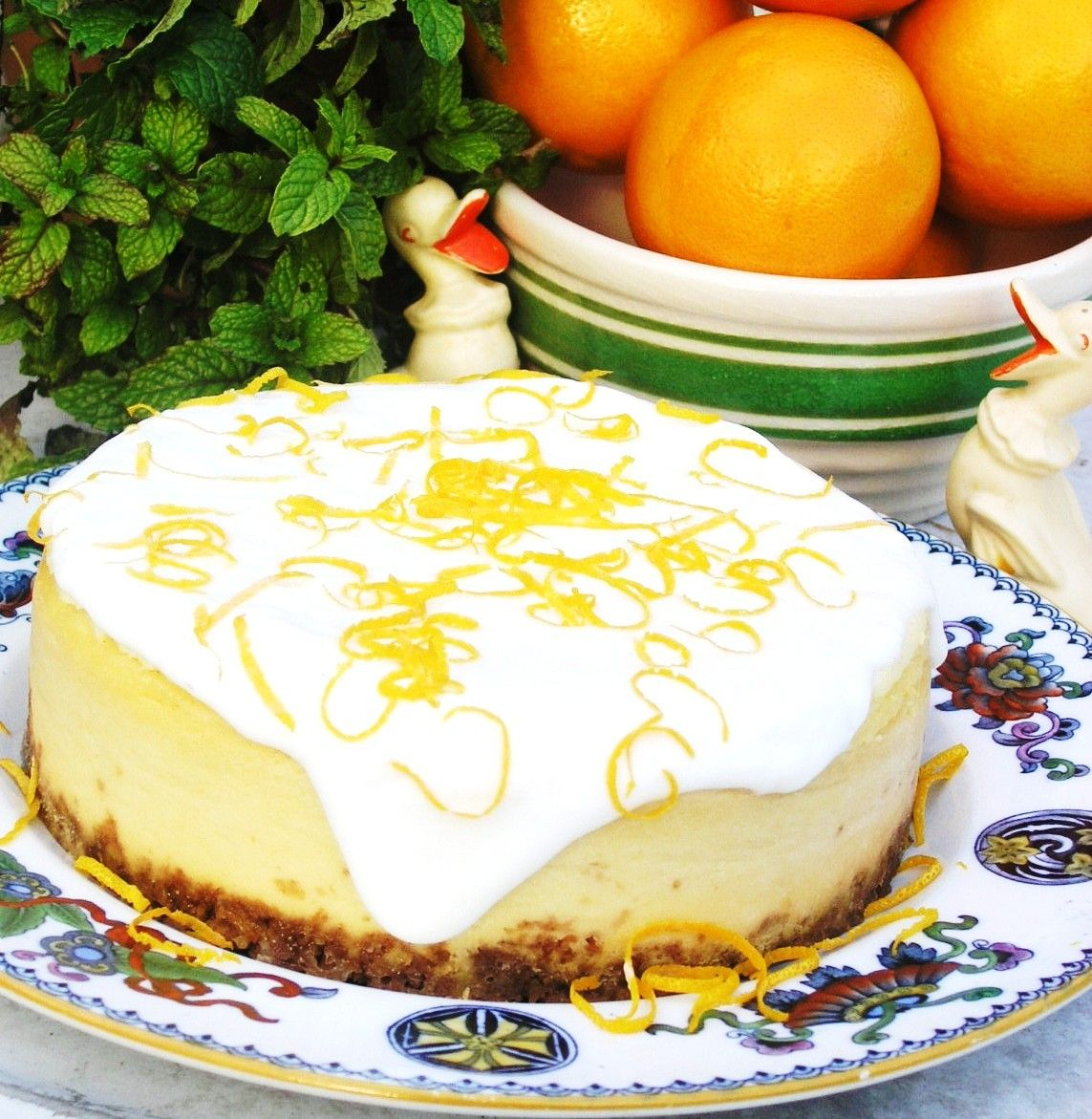 Lucy's Kitchen Orange Blossom Cheesecake | Lucy Food | Pinterest