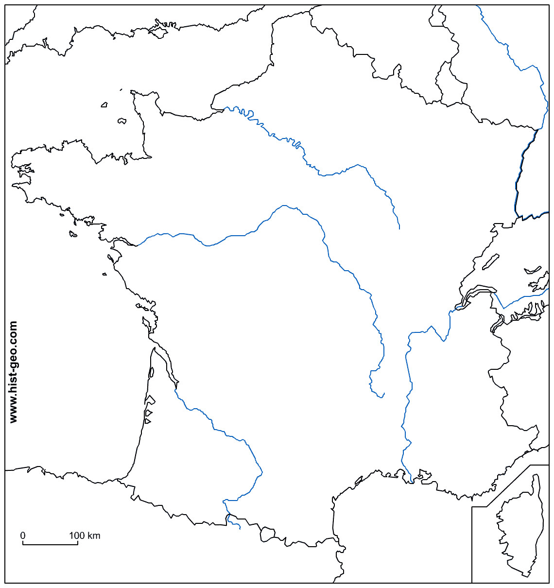 Blank Physical Map Of Europe With Rivers And Mountains  Printable - Map of us including rivers and mountains