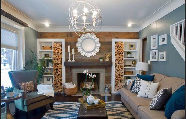 Blue and orange living room teal living room pinterest - Blue and orange living room ...