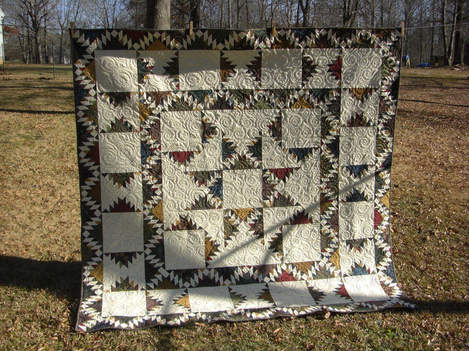 mountain star quilt | ~ quilts ~ | Pinterest