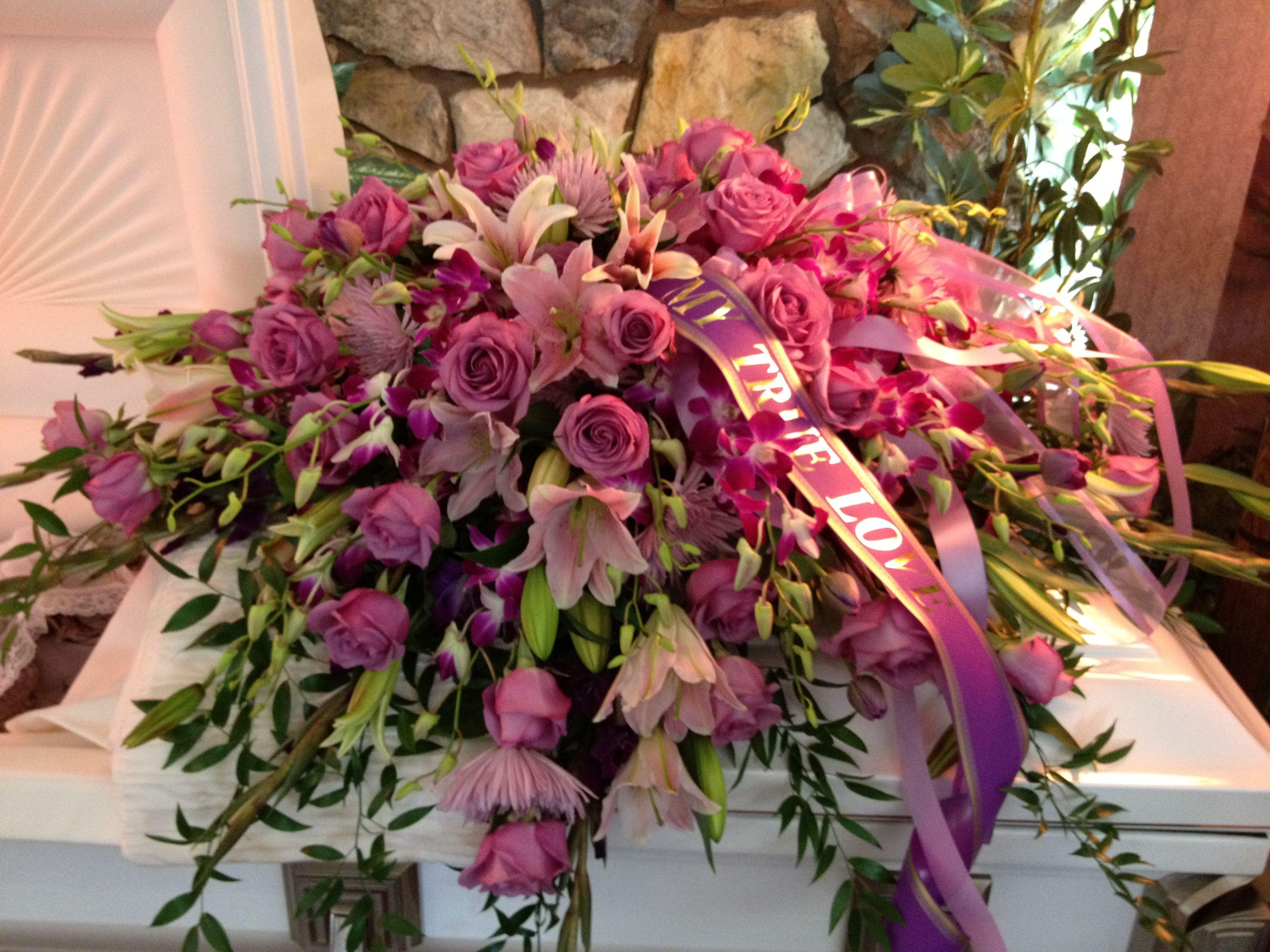 Gorgeous Casket Flower Arrangement Sympathy Flowers