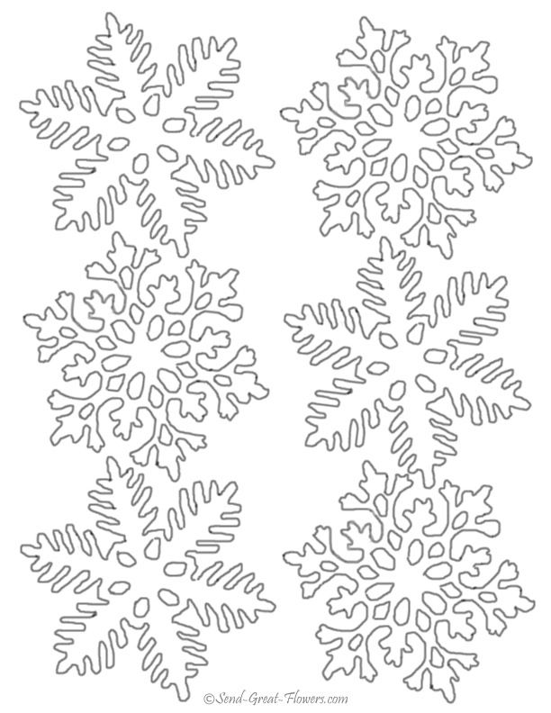 Трафареты на окна к новому году снежинки