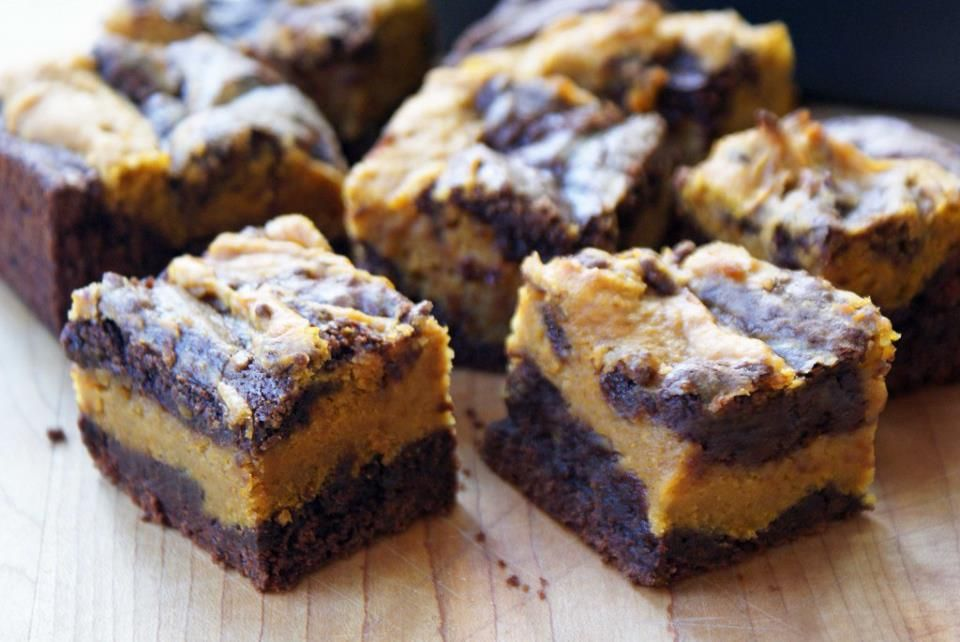 pumpkin swirl brownies | Brownies & Blondies | Pinterest