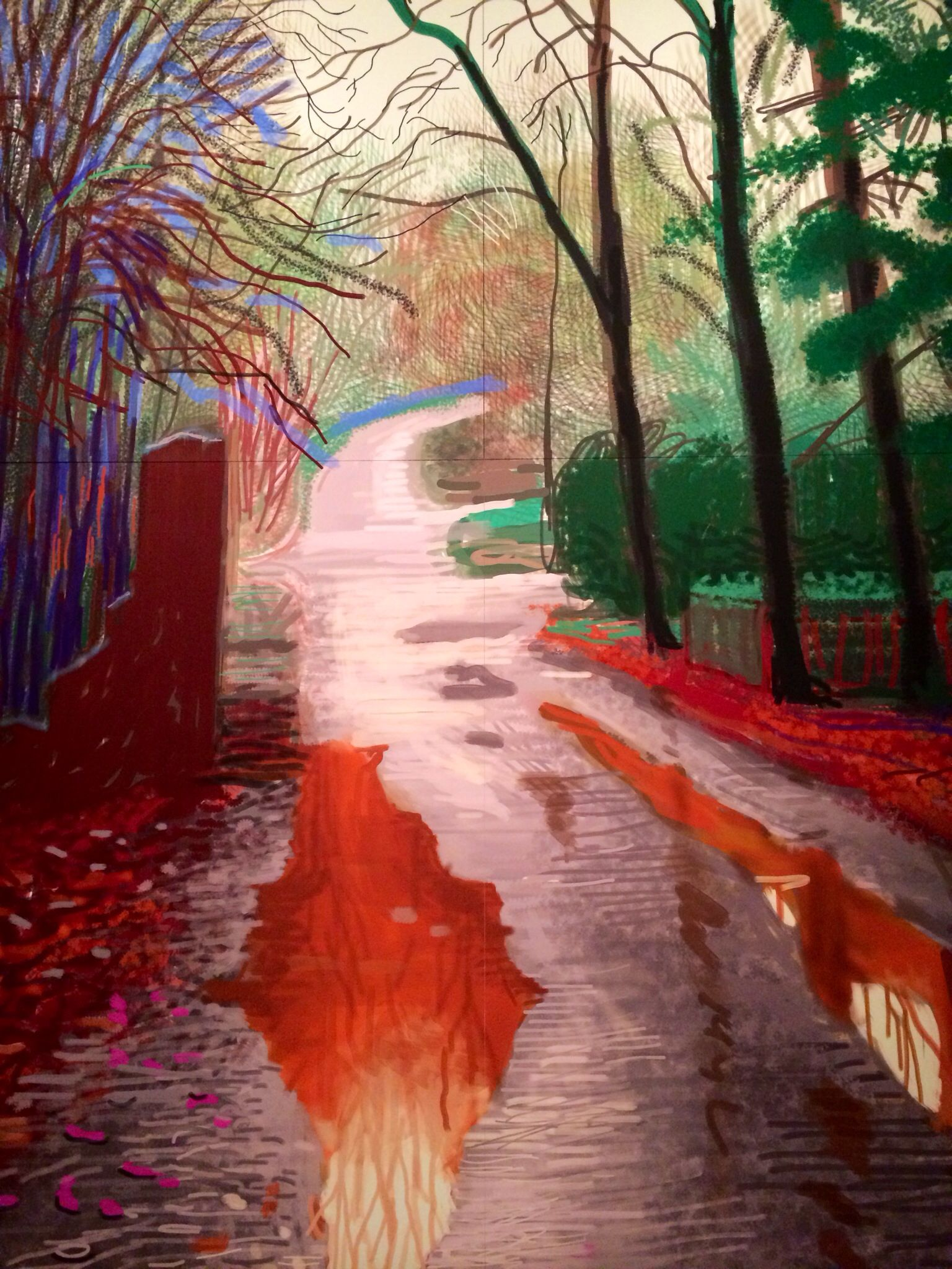 david hockney After his monumental landscape exhibition at the guggenheim museum bilbao in 2012, david hockney turned away from painting and from his yorkshire home and went back to los angeles.