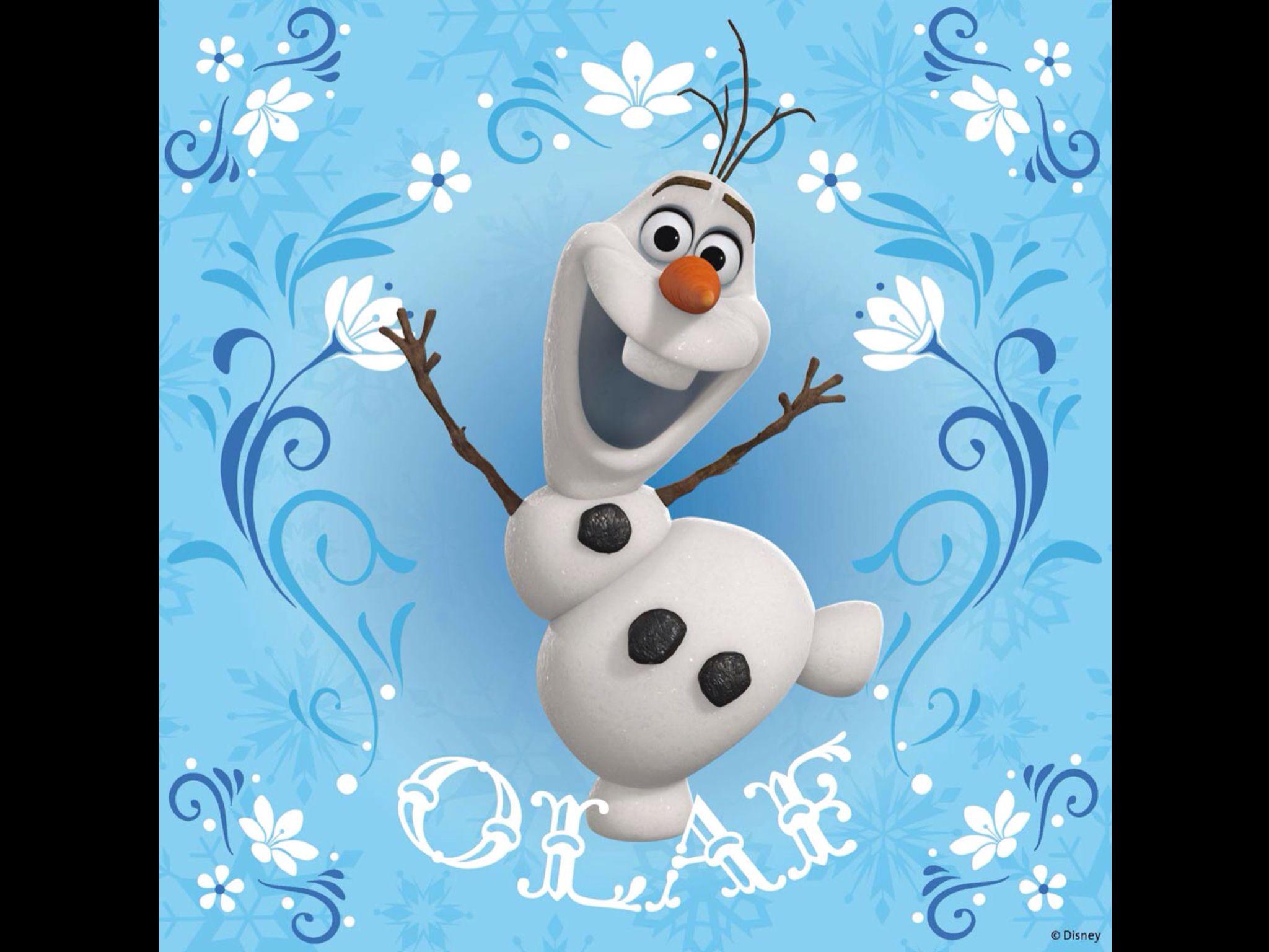 Disney Frozen Olaf Wallpaper | Frozen * | Pinterest
