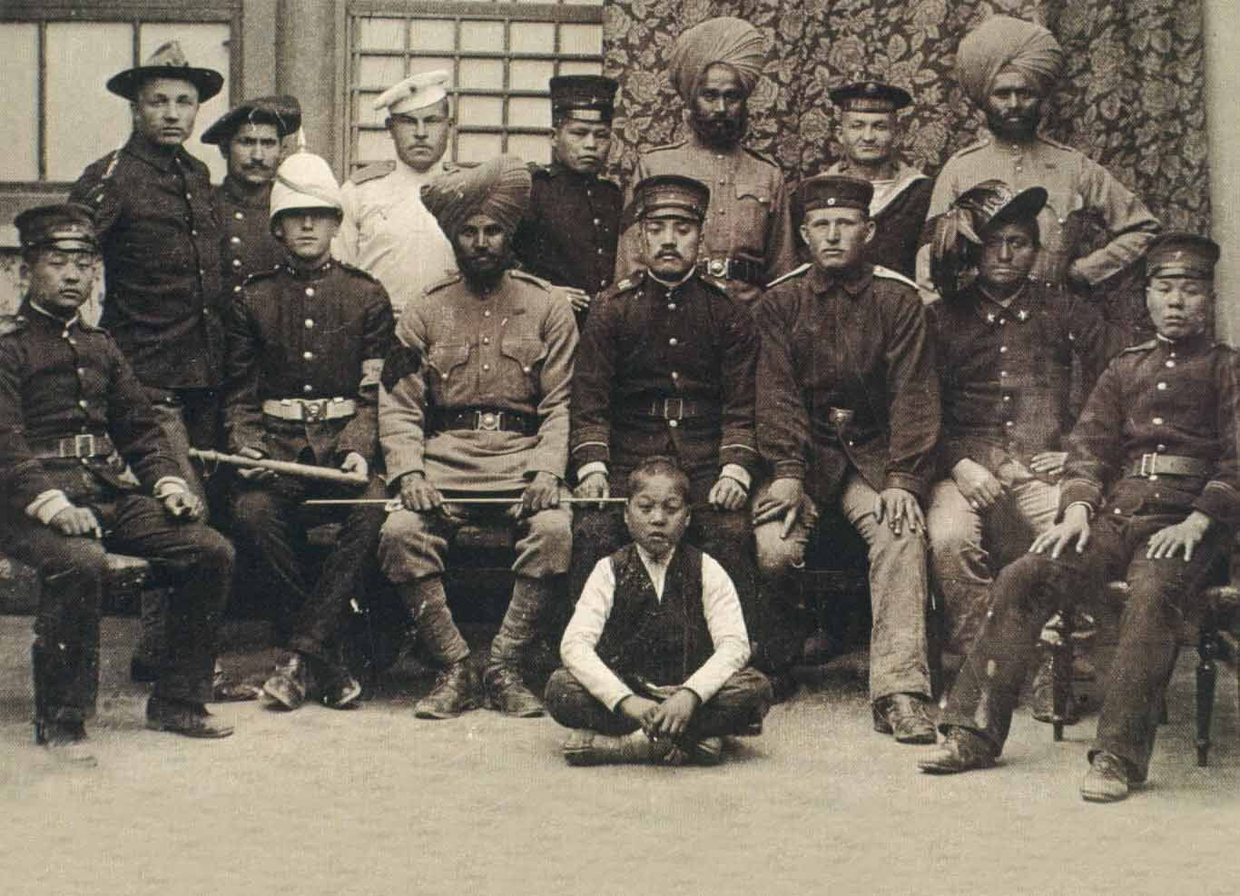 Group photo of members of the relief forces. | China: Boxer Rebellion