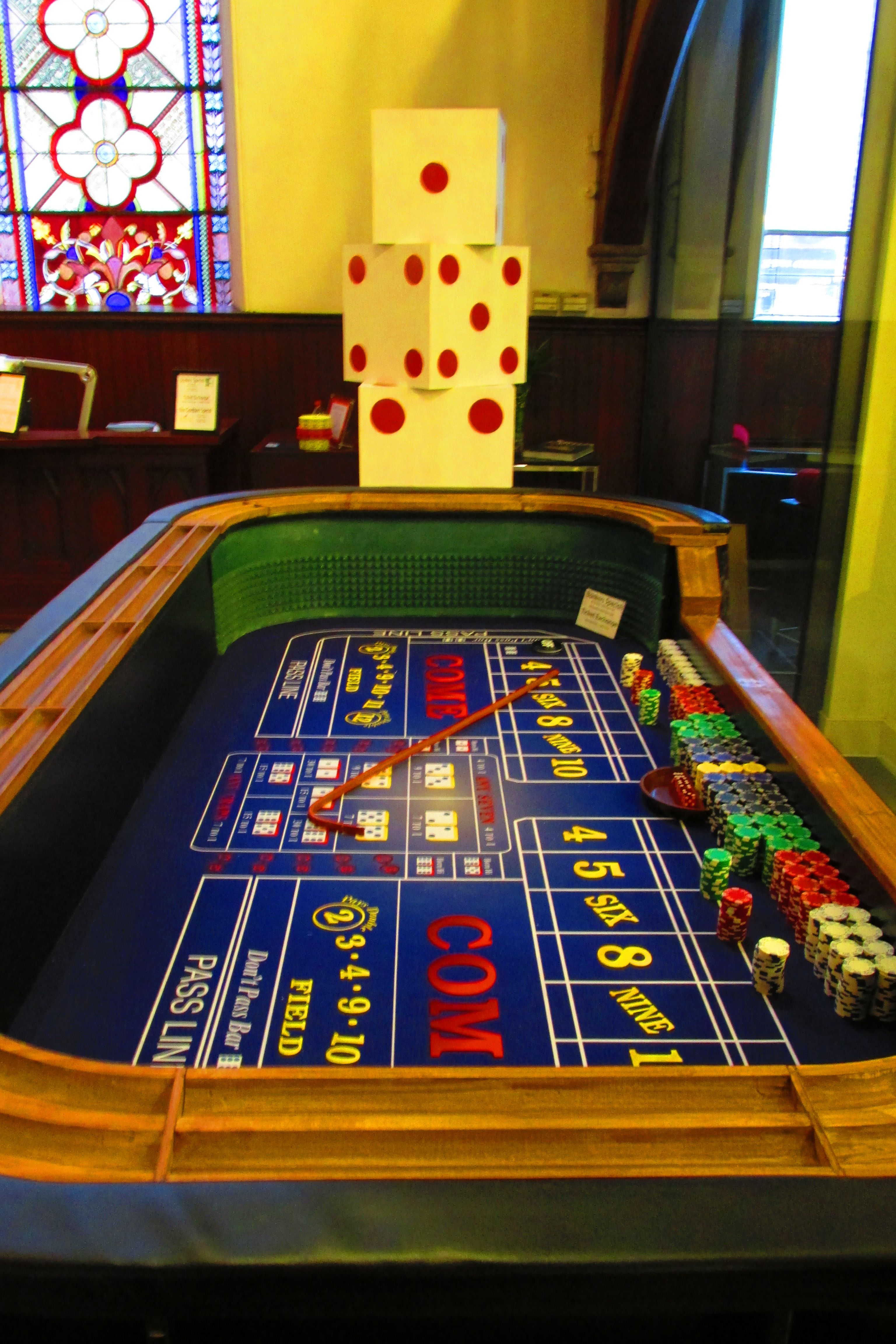 Craps table poker room pinterest for 12 craps table